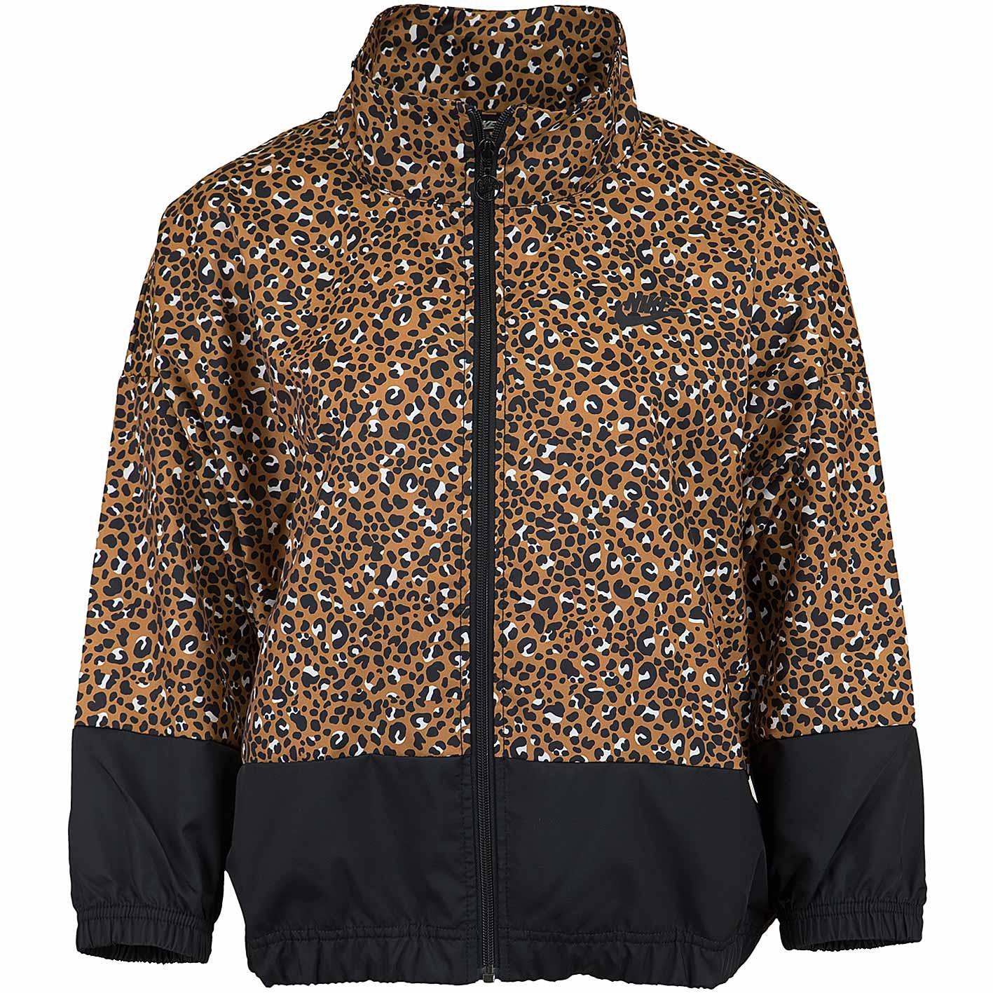 newest a5c96 d06f0 Nike Damen Trainingsjacke Jacke Animal Woven braun/schwarz