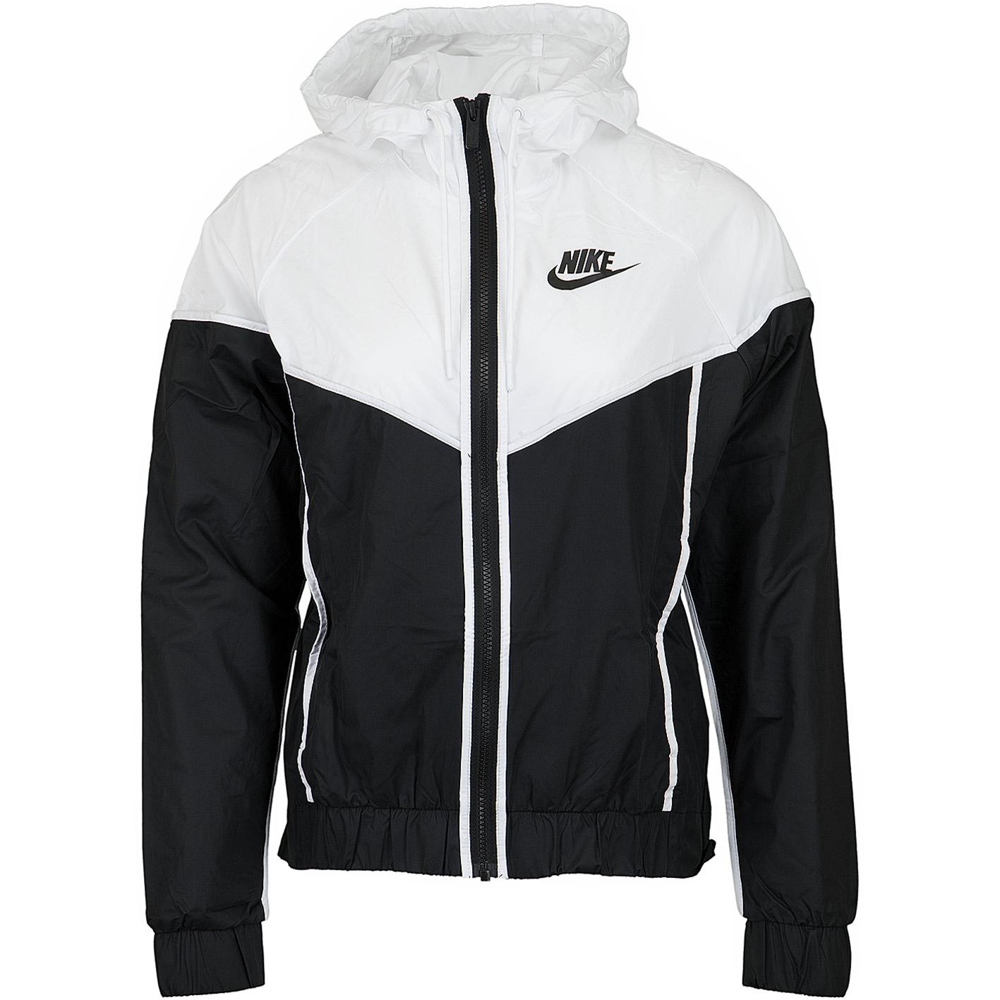 Nike Damen Trainingsjacke Heritage schwarzweiß