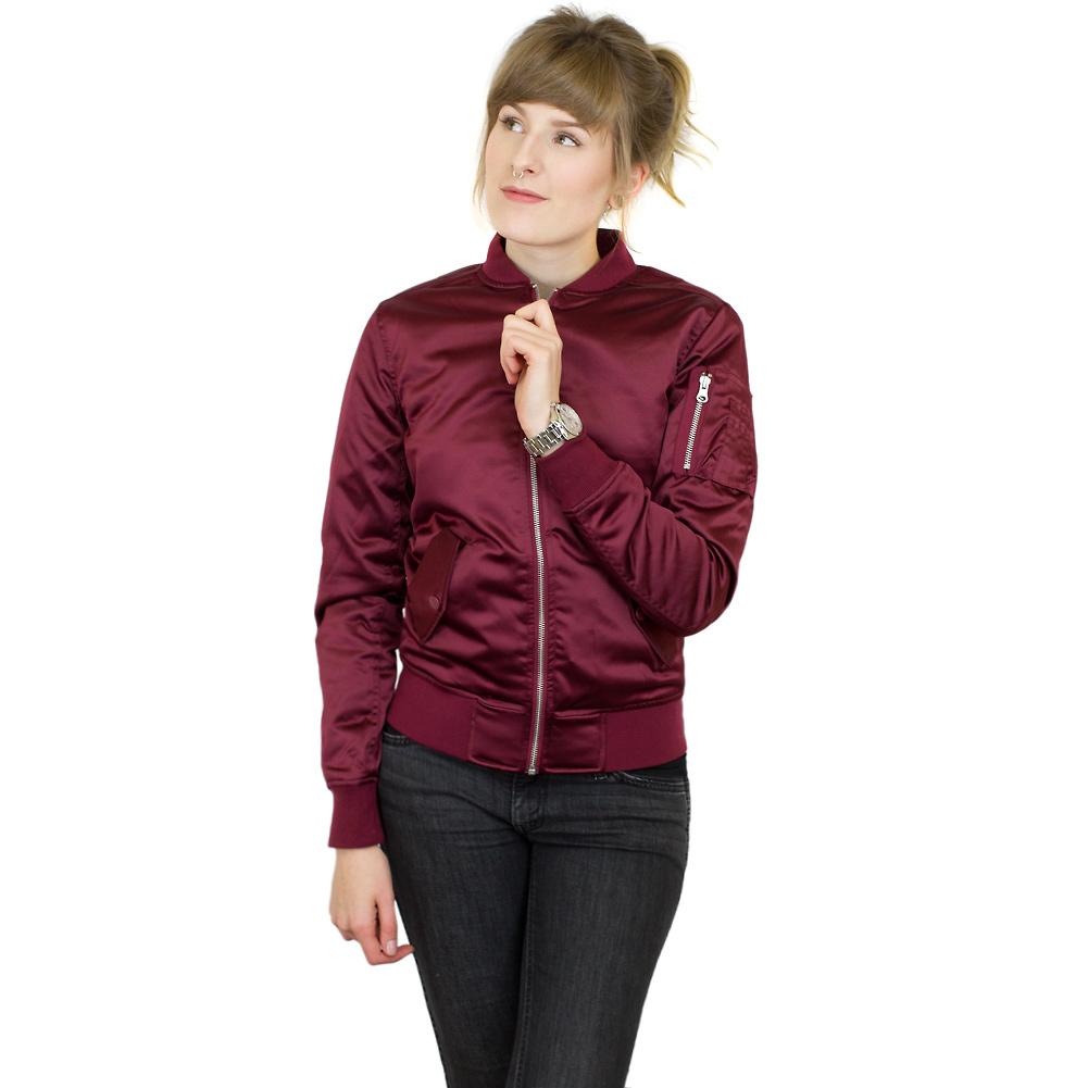beliebt kaufen günstig kaufen ganz nett ☆ Urban Classics Damen Bomberjacke Satin Bomber burgundy ...