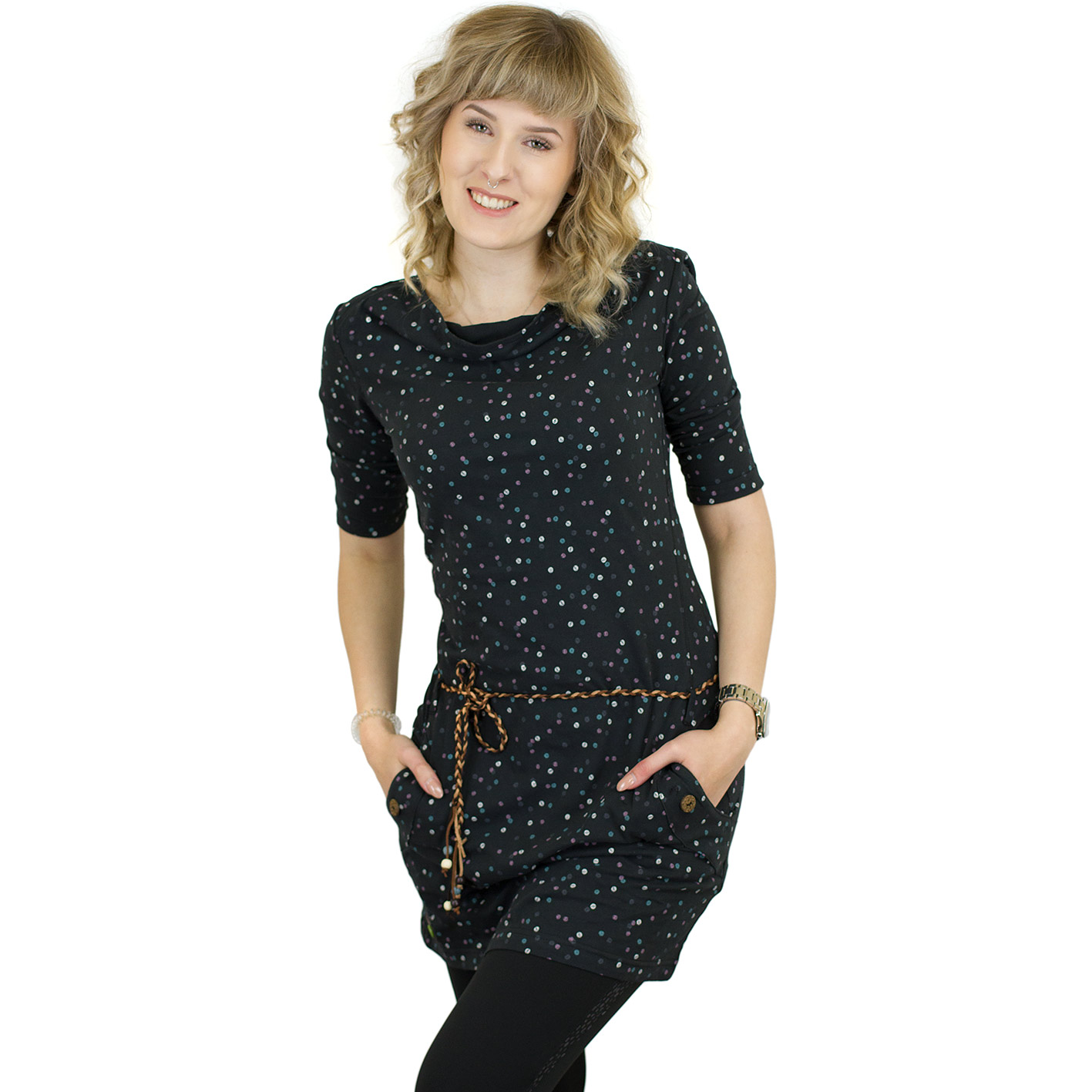 Ragwear Kleid Tanya Organic schwarz - hier bestellen!