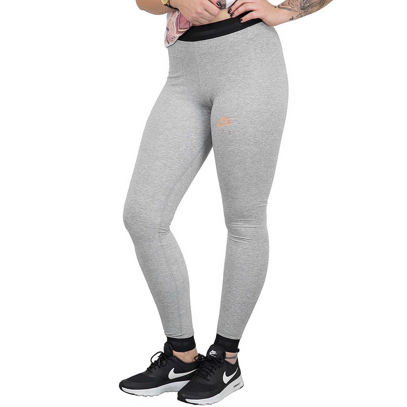 Nike Leggings Air grauschwarz