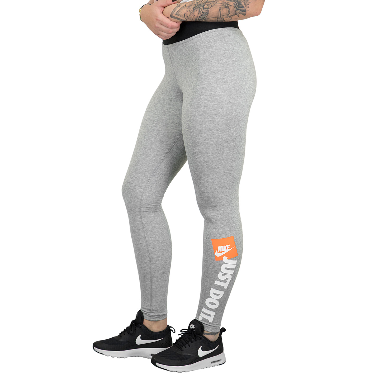 closer at separation shoes official supplier Nike Leggings Just Do It grau
