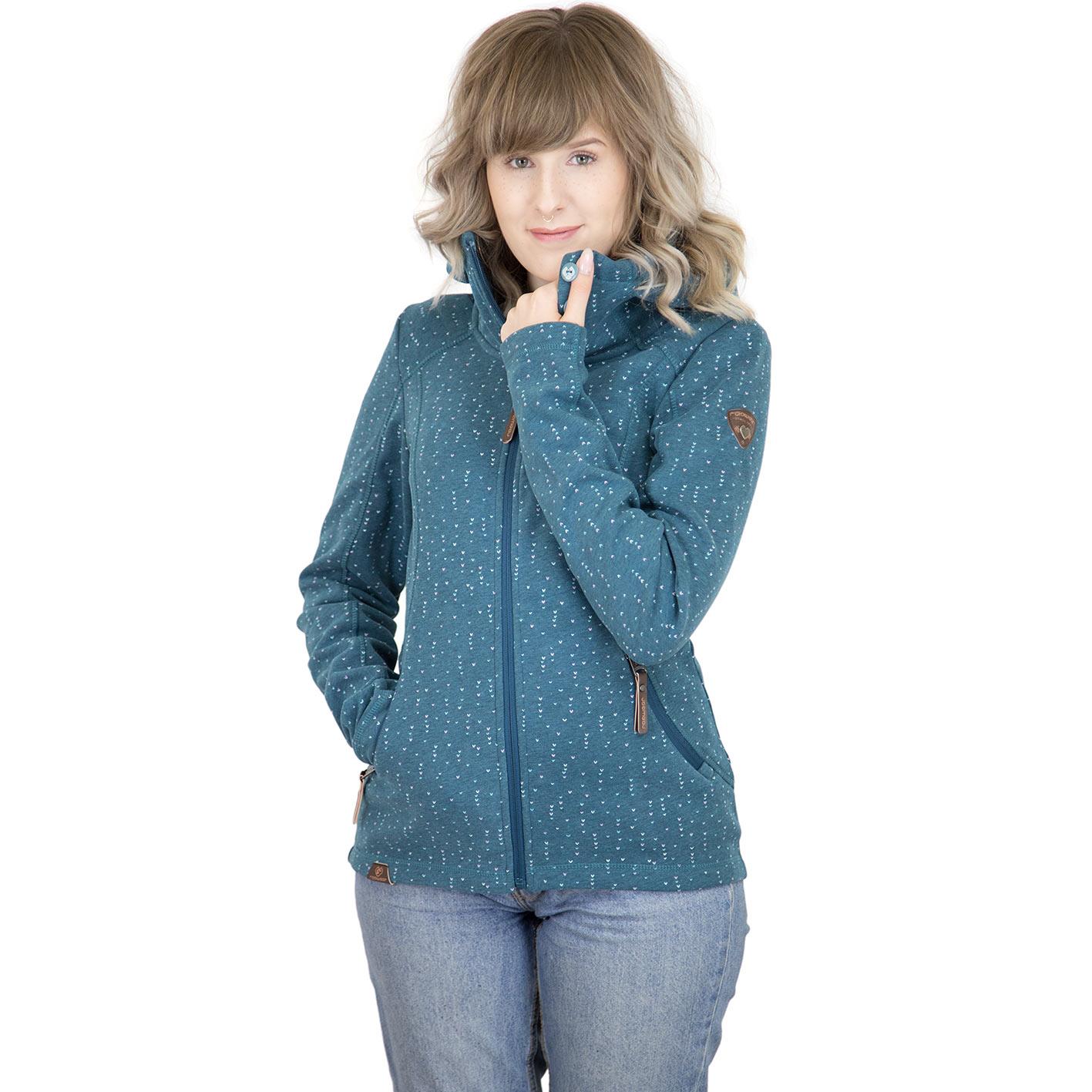 online store 9ab67 12a03 Ragwear Damen-Jacke Nicky grün-blau