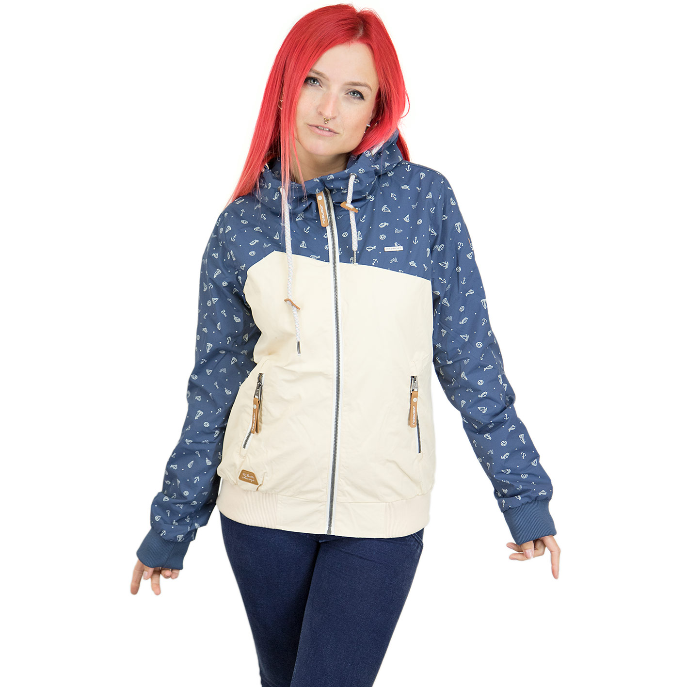 cheap for discount 21779 43614 Ragwear Damen-Jacke Nuggie B denim blau