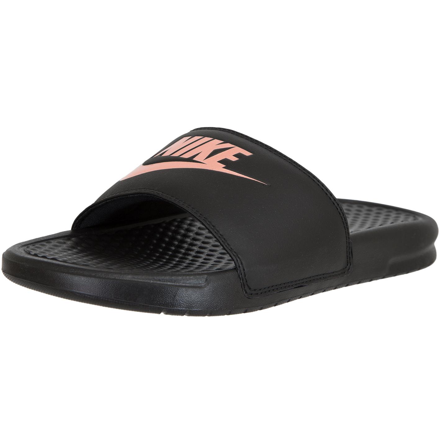 Nike Damen Badelatschen Benassi Just Do It schwarz/rosa