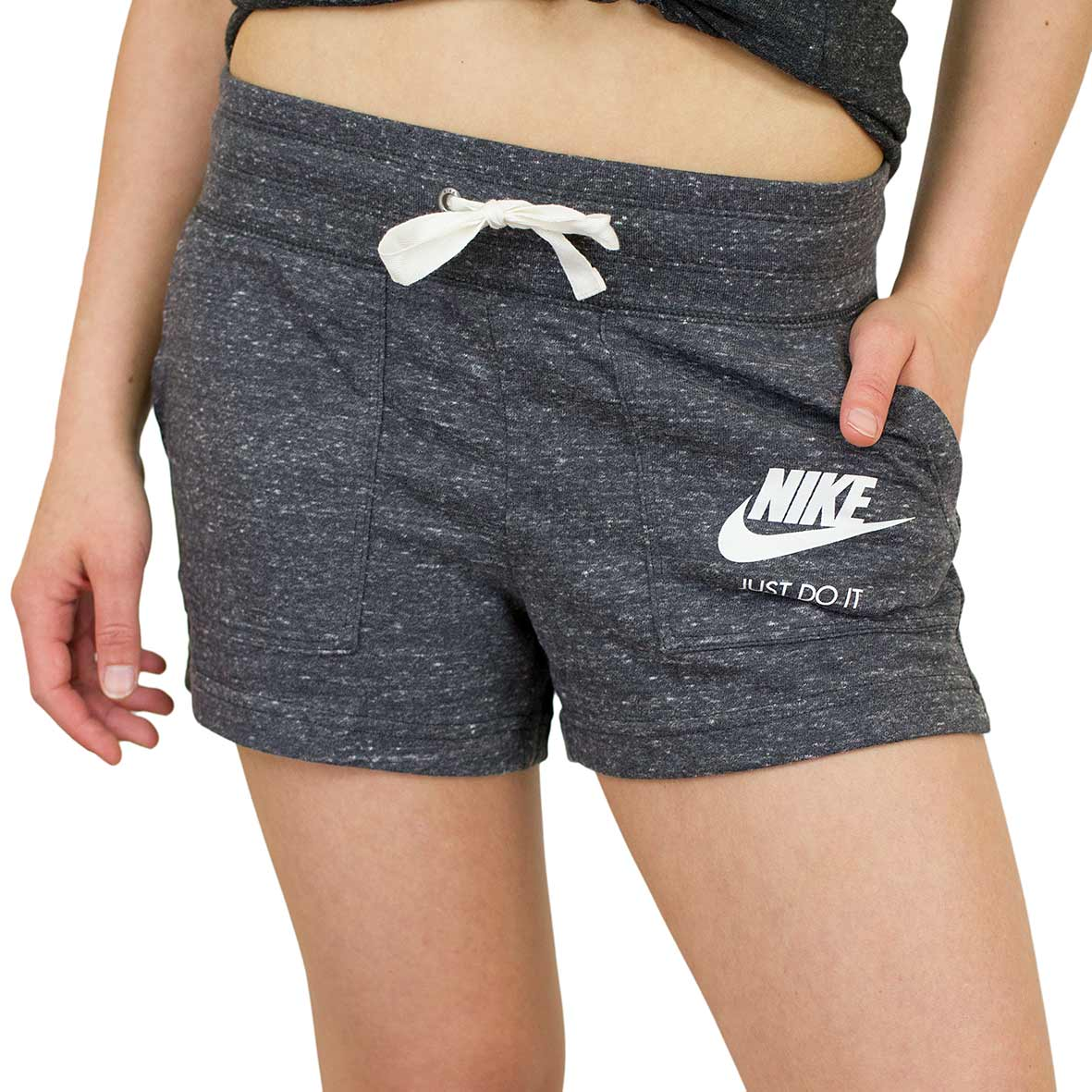 closer at lower price with check out ☆ Nike Damen Shorts Gym Vintage anthrazit - hier bestellen!