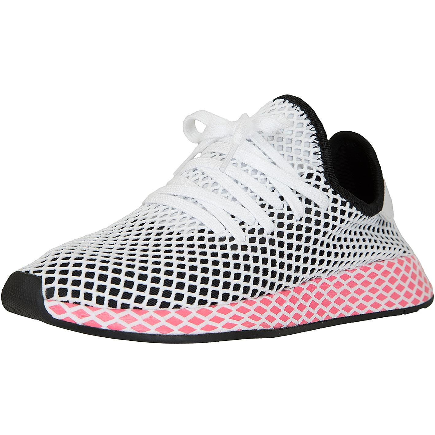 adidas originals damen sneaker deerupt runner schwarz wei. Black Bedroom Furniture Sets. Home Design Ideas