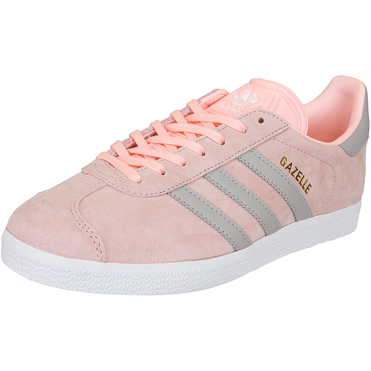 adidas originals damen sneaker gazelle rosa grau hier. Black Bedroom Furniture Sets. Home Design Ideas