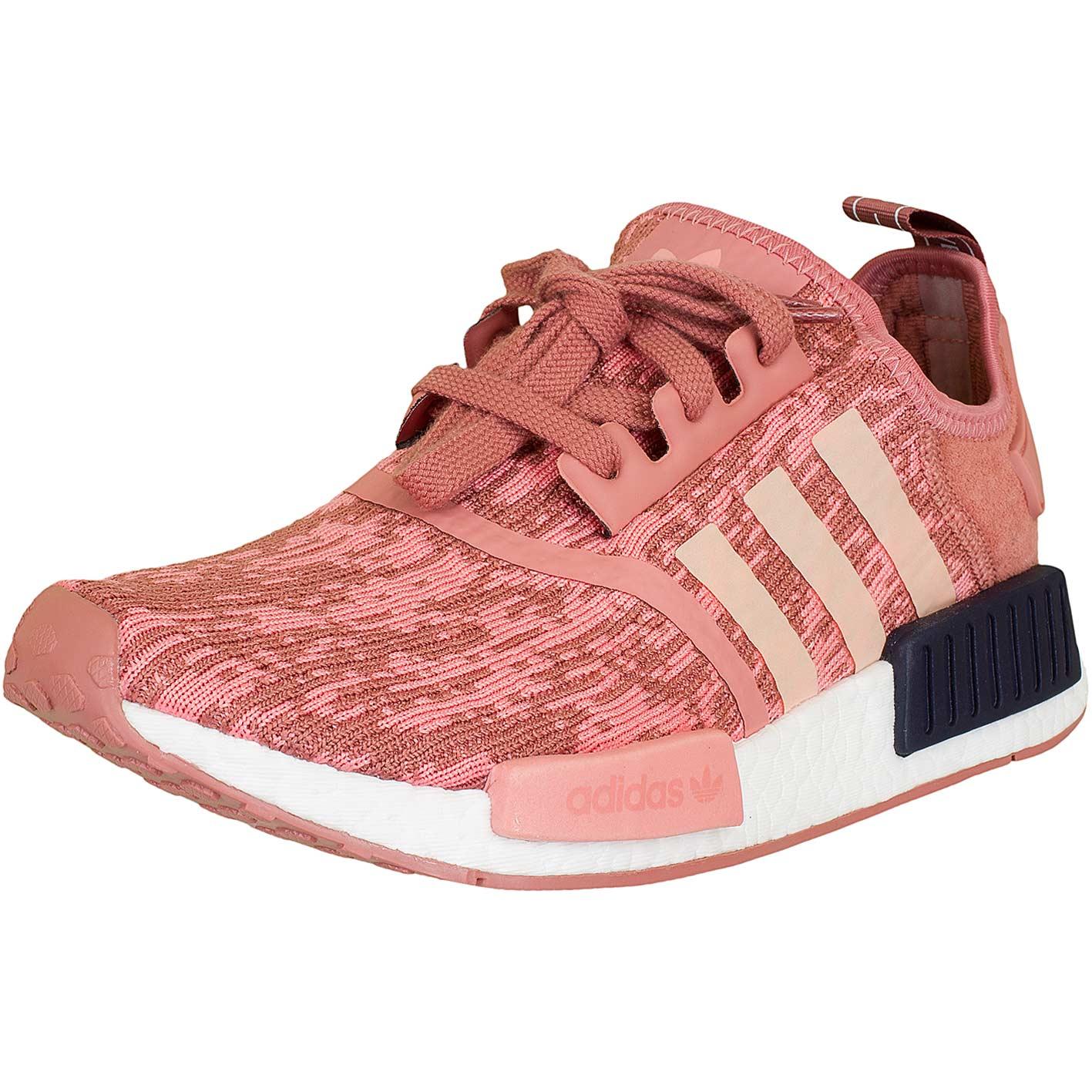 damen adidas nmd runner dunkelrot rosa
