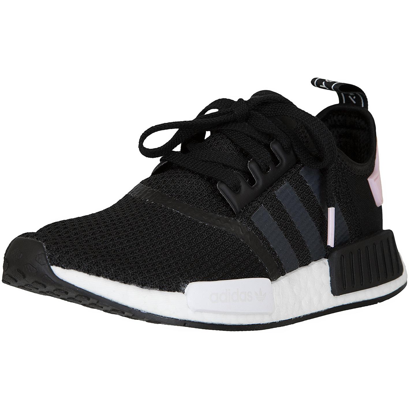 adidas NMD R1 Schuhe Damen SchwarzWeiß Rosa | B37649