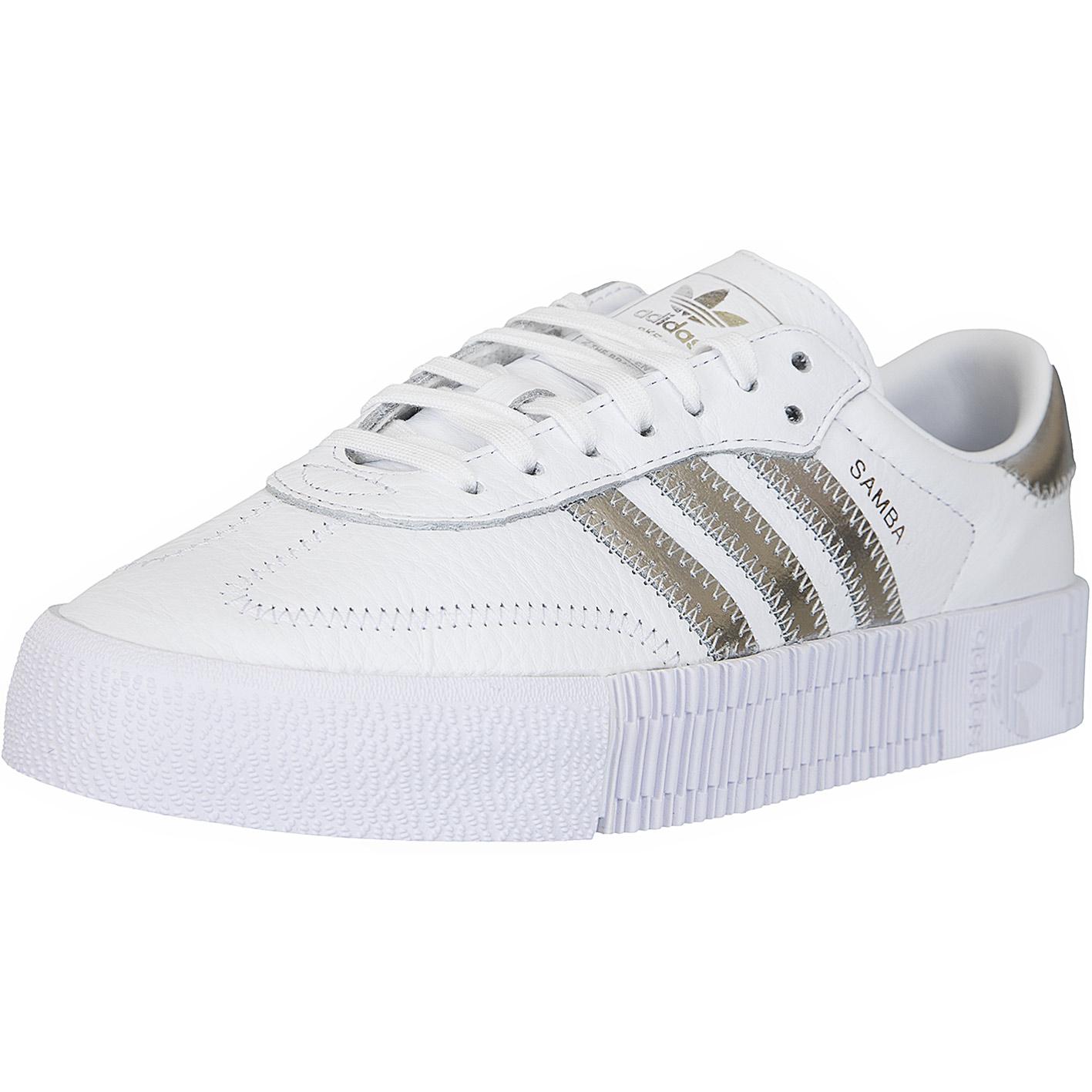 Adidas Originals Damen Sneaker Sambarose weiß/silber