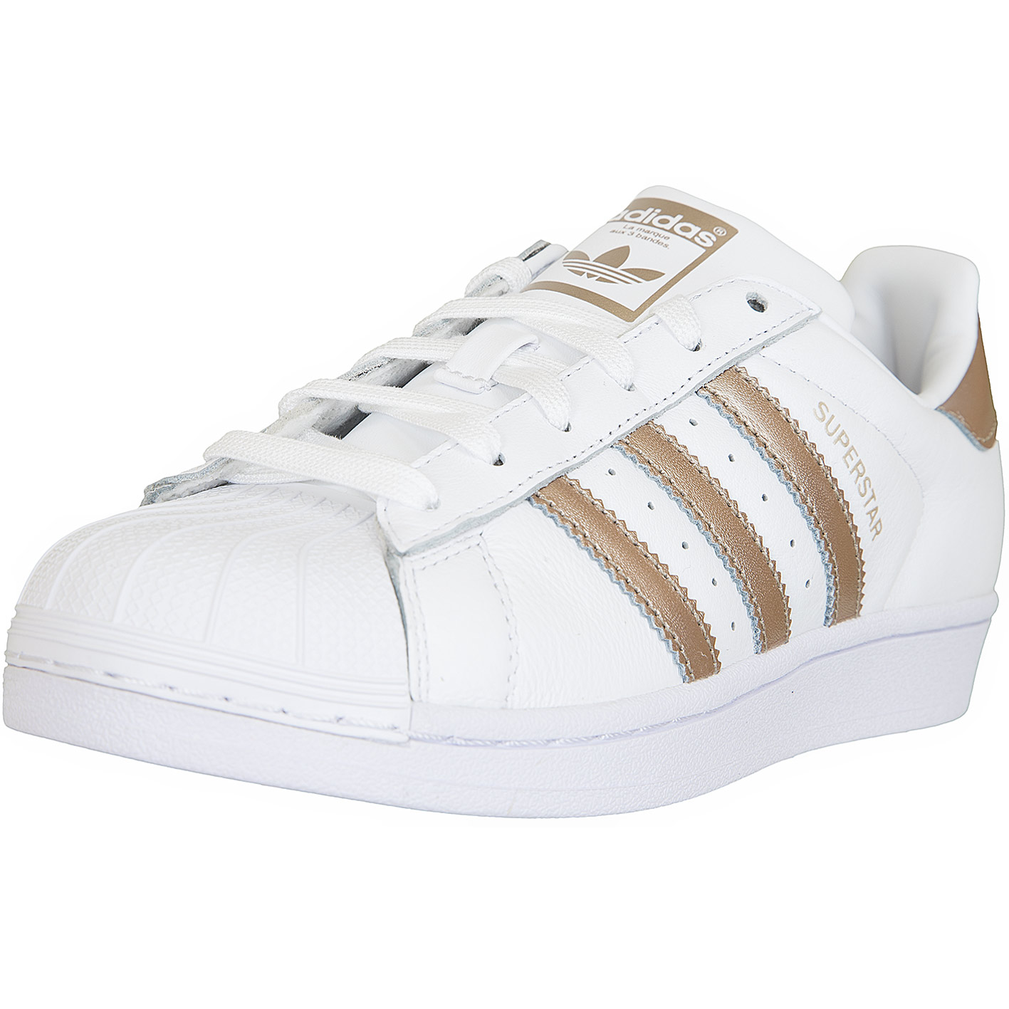 Adidas Originals Damen Sneaker Superstar weiß/gold