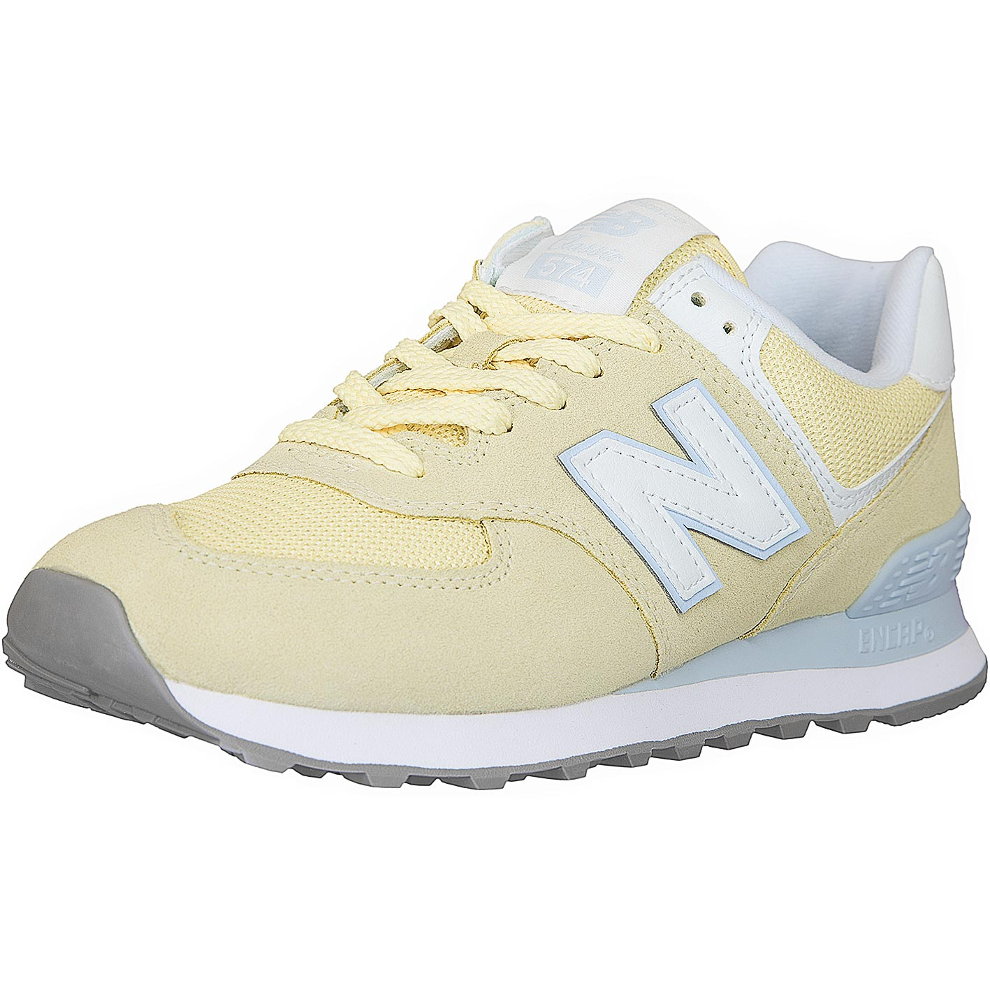 brand new bea74 9027e New Balance Damen Sneaker 574 Wildleder/Mesh gelb