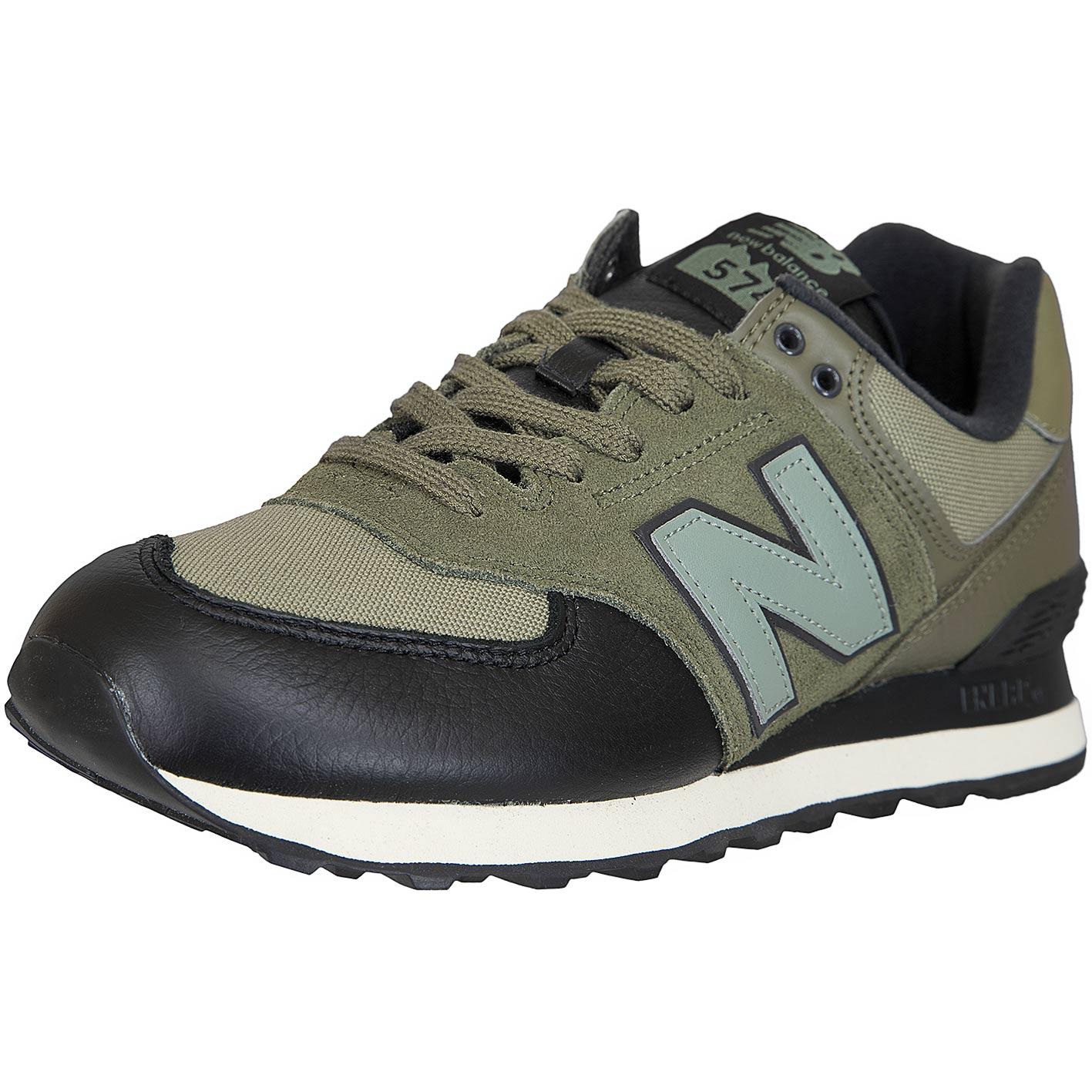 size 40 096f9 737aa New Balance Sneaker 574 Leder/Mesh/PU grün/schwarz