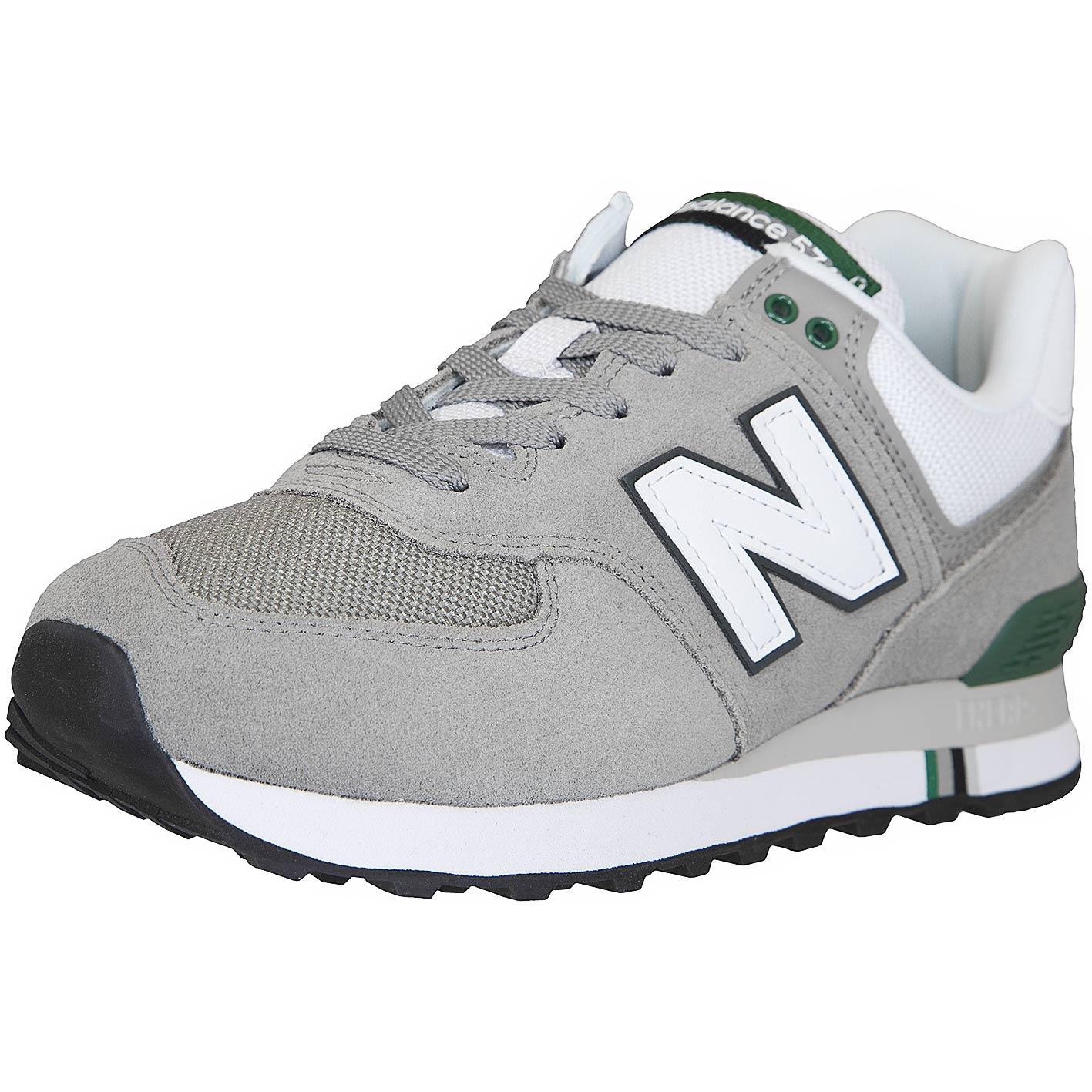Verkauf Einzelhändler lässige Schuhe attraktiver Preis New Balance Sneaker 574 Leder/Textil grau/grün