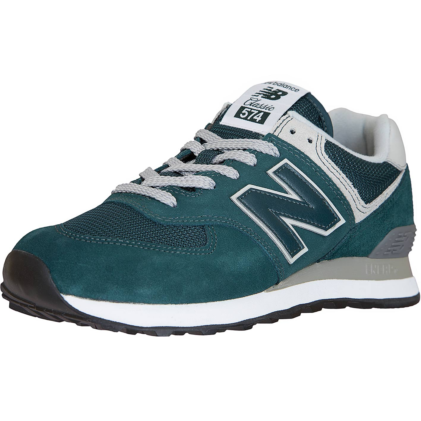 promo code f10da ff145 New Balance Sneaker 574 Leder/Textil/PU grün