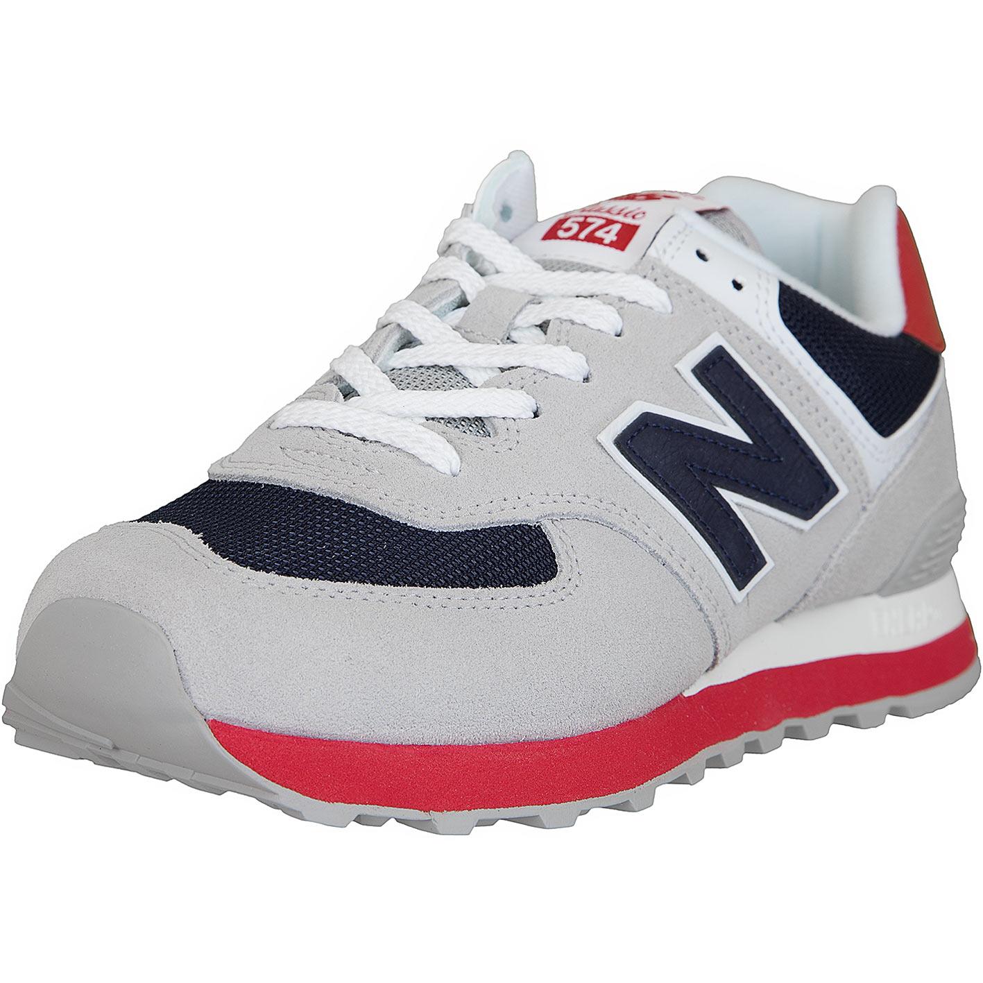begrenzter Verkauf neuer Lebensstil Vielzahl von Designs und Farben New Balance Sneaker 574 Leder/Textil grau/dunkelblau
