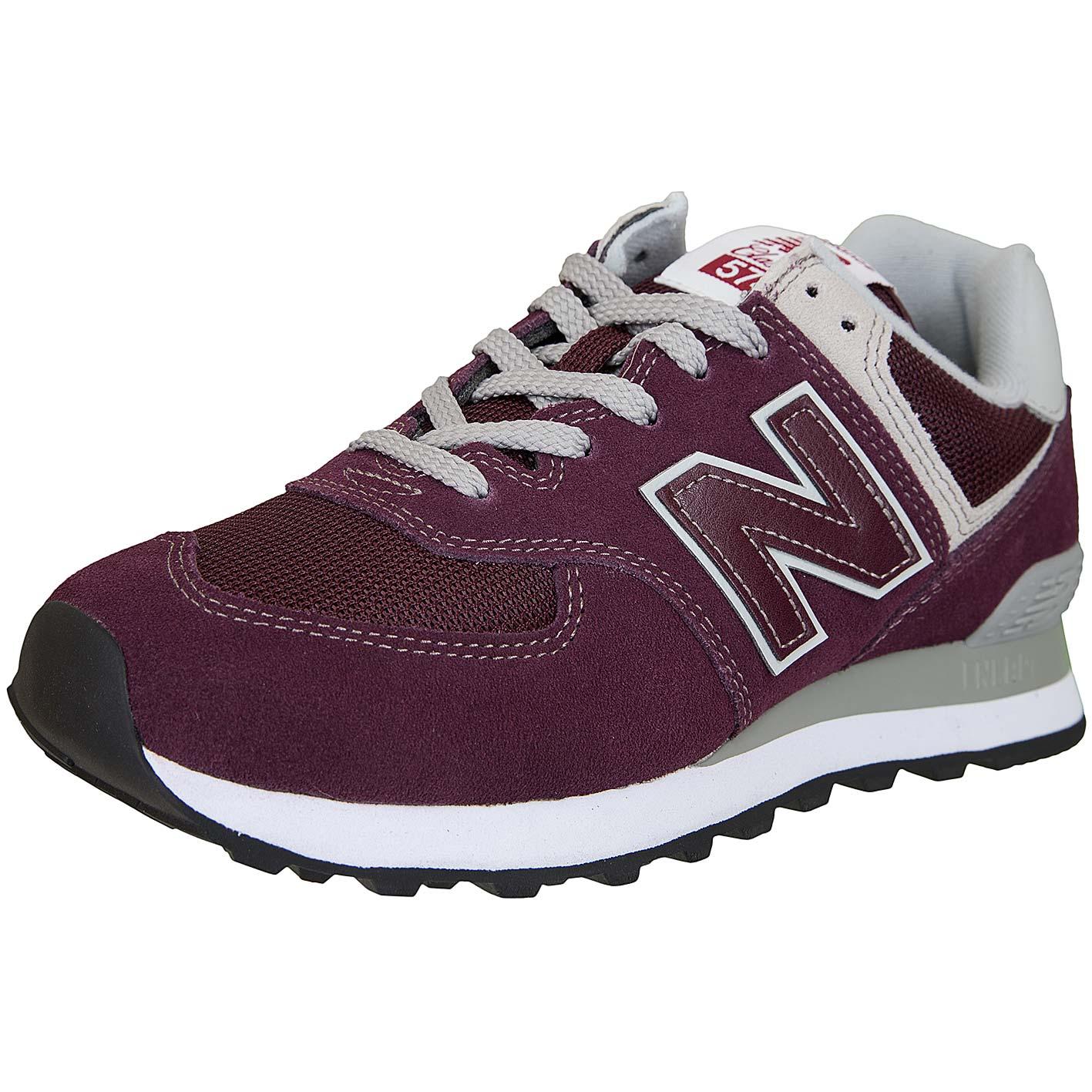 lowest price 55e03 e1cbb New Balance Sneaker 574 Wildleder/Mesh/Synthetik weinrot