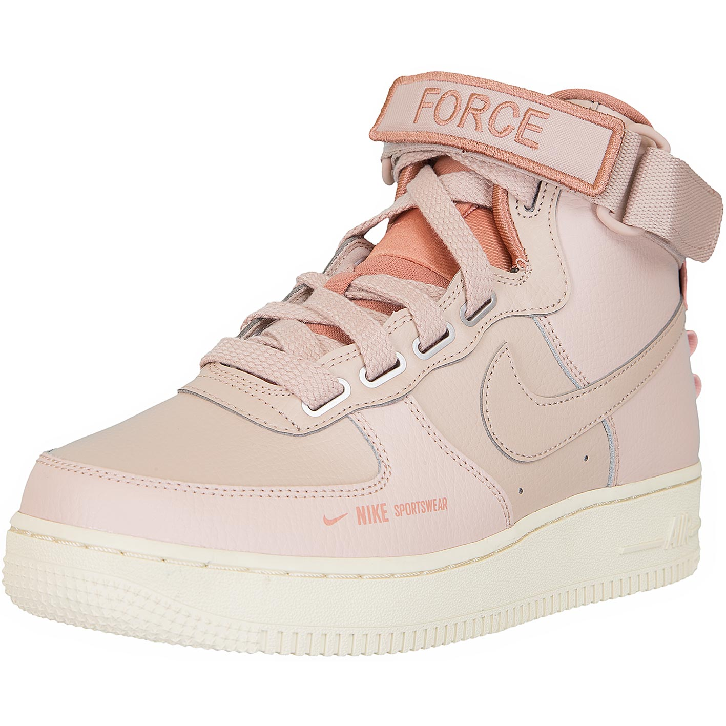good quality wholesale outlet big sale ☆ Nike Damen Sneaker Air Force 1 High Utility beige/rosa ...