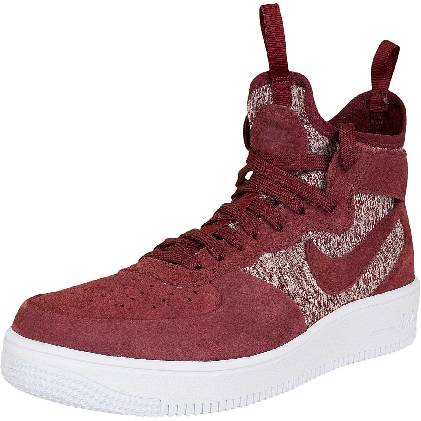 new product 17a6a bba58 Nike Sneaker Air Force 1 UF Mid Premium rotweiß