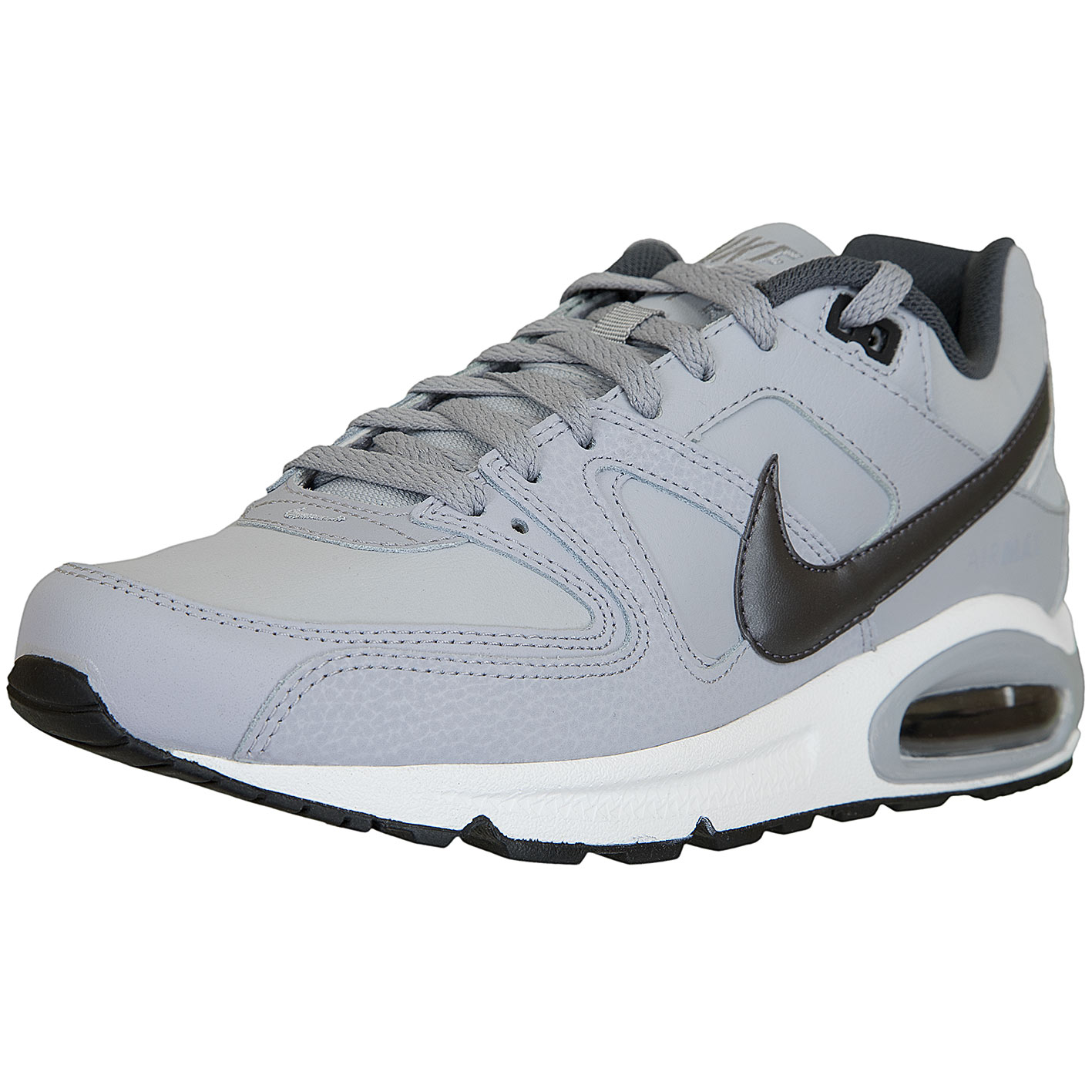 amazon nike air max command leather sneaker herren schwarz