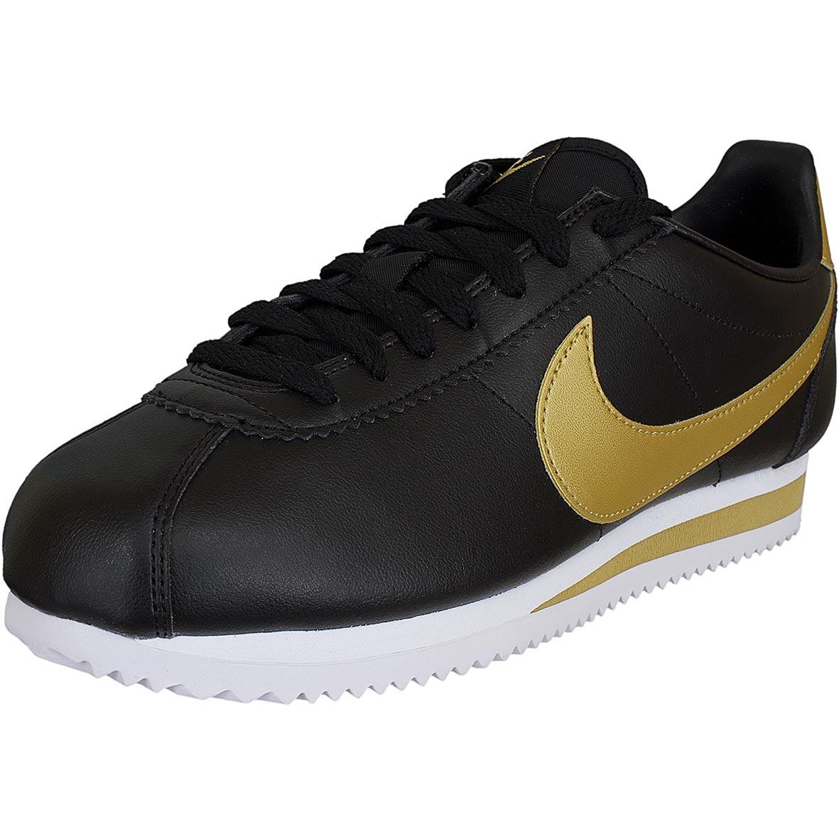 4c03c2a37d58 ☆ Nike Damen Sneaker Classic Cortez Leather schwarz gold - hier ...