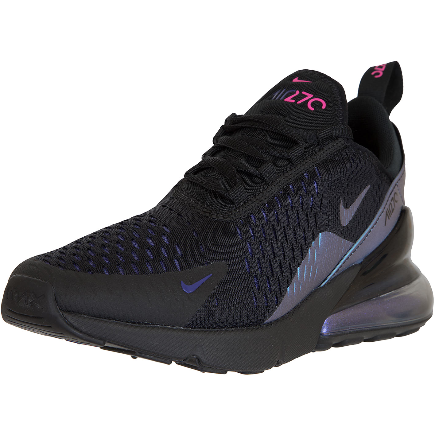 buy cheap online shop best sneakers Nike Damen Sneaker Air Max 270 schwarz/lila/türkis