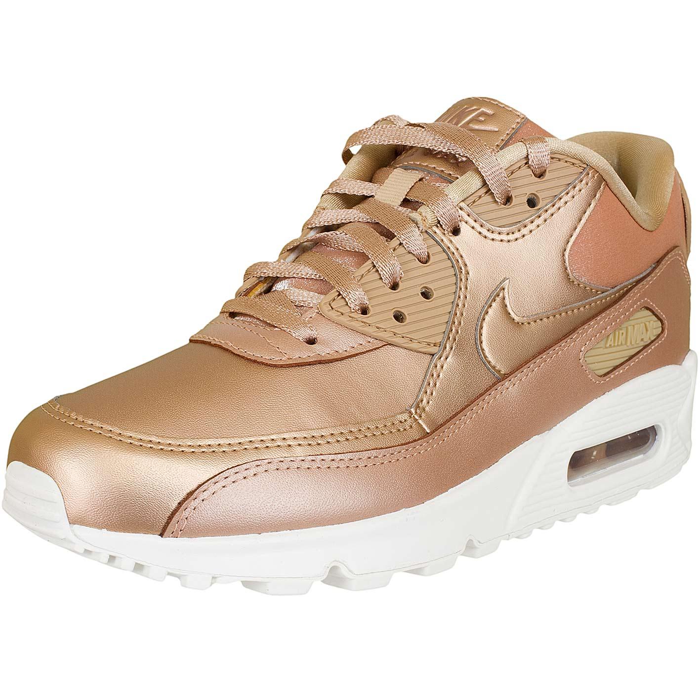 ☆ Nike Damen Sneaker Air Max 90 Premium mtlc bronze hier