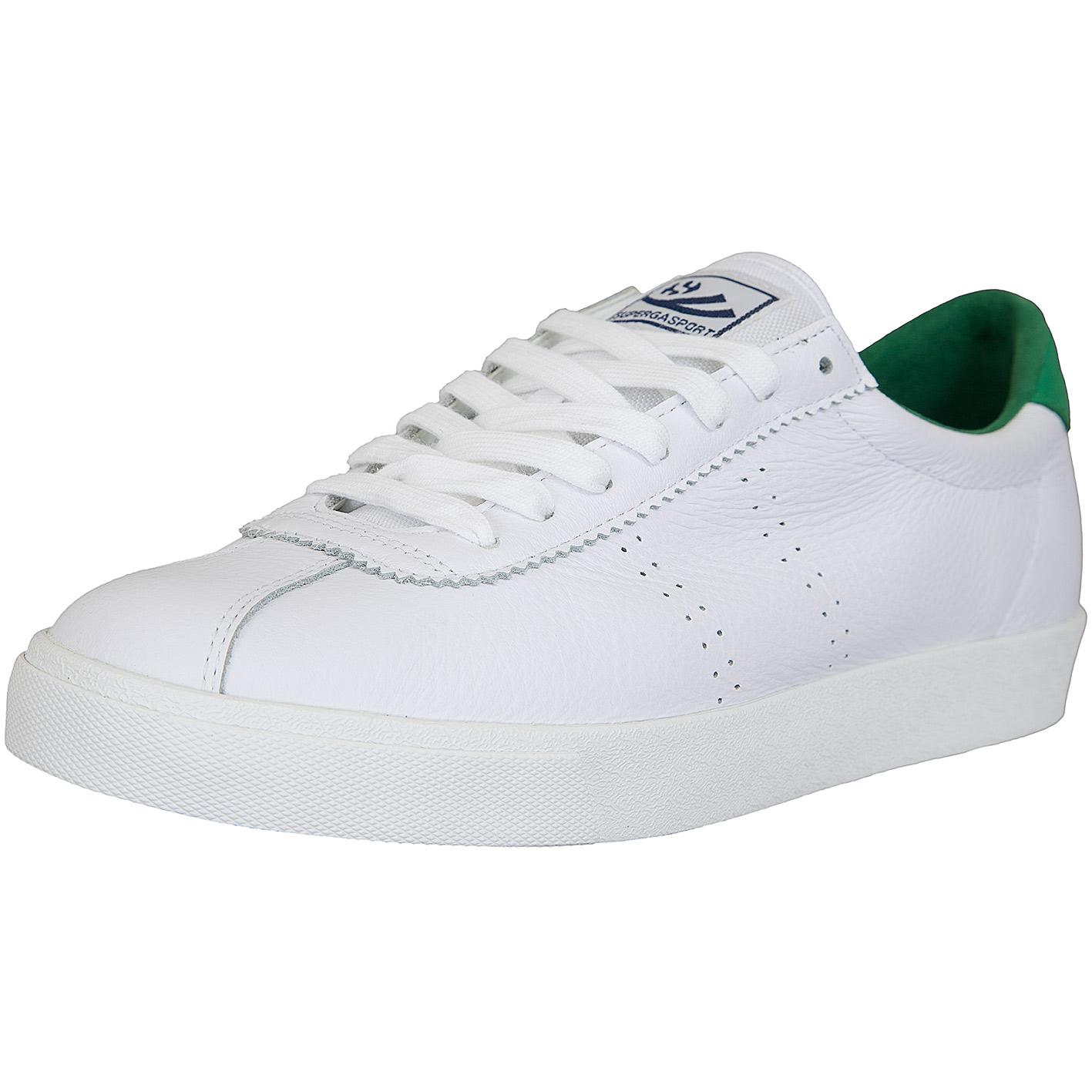 neueste trends das beste Luxus-Ästhetik Superga Sneaker Comfleau weiß/grün