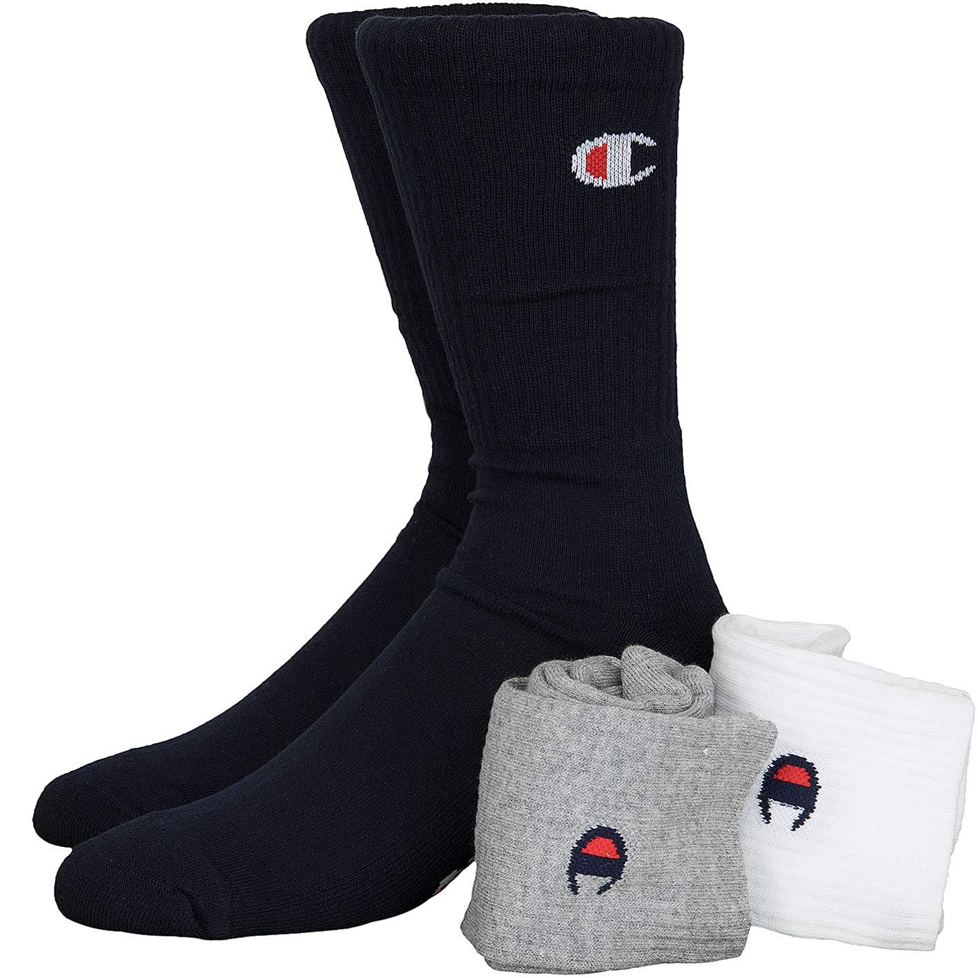Champion Socken 3er Pack Dunkelblau/grau/weiß