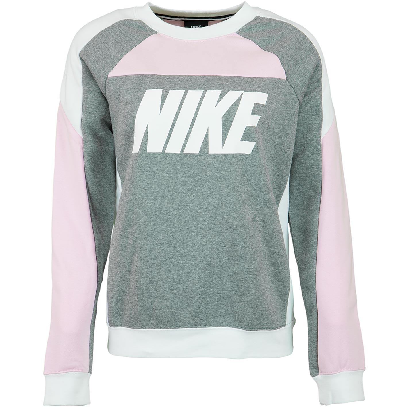 Nike Damen Sweatshirt CB Fleece pinkweiß