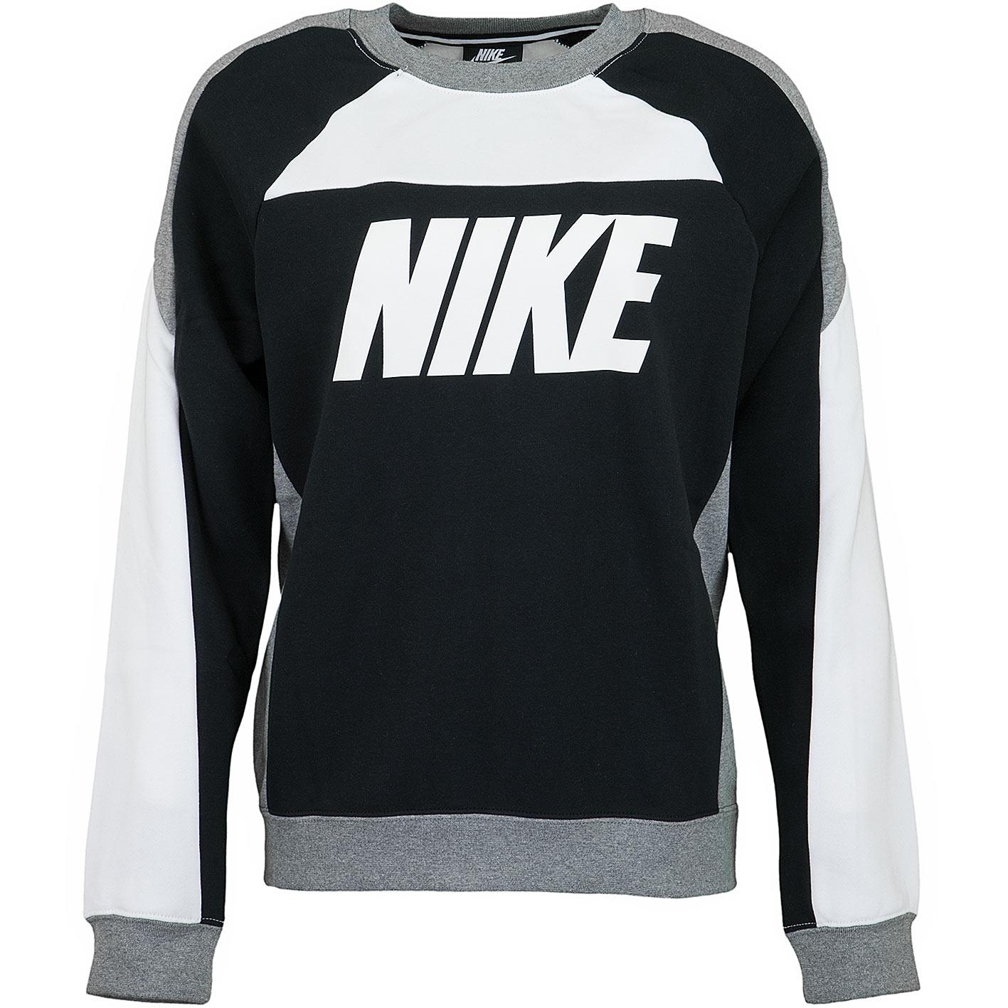 Nike Damen Sweatshirt CB Fleece weißschwarz