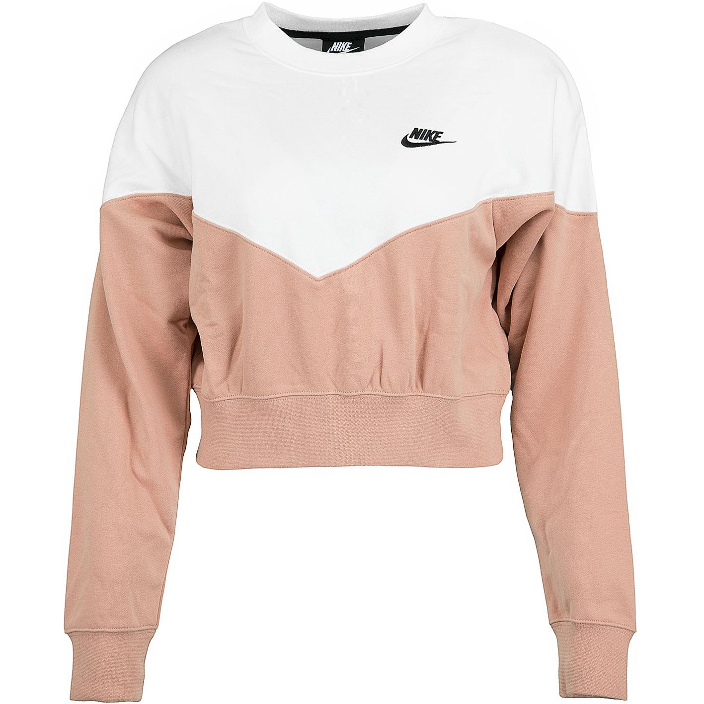 new style 5c4e3 2342d Nike Damen Sweatshirt Heritage Fleece rosa/sail