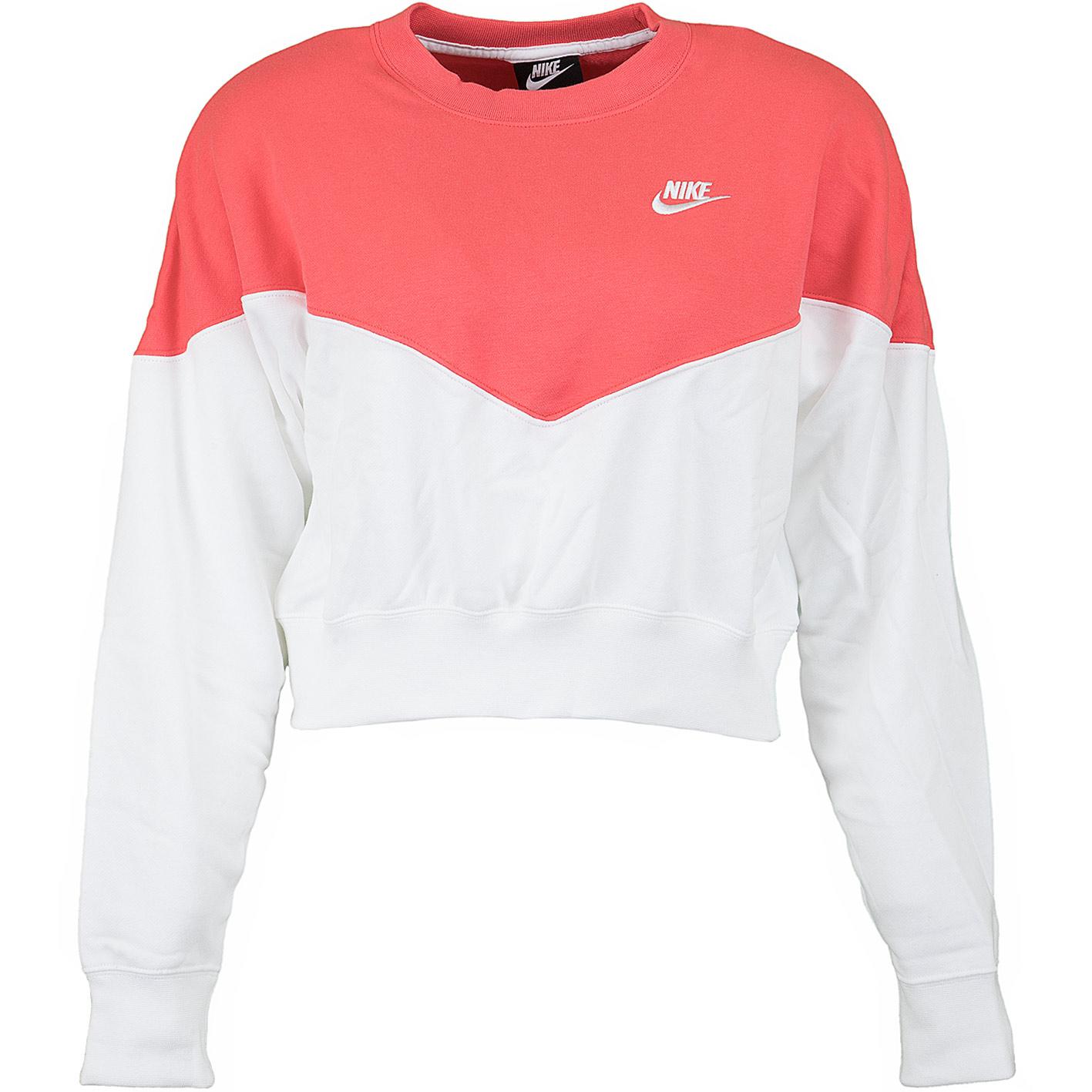 c231e3637ce6a7 ☆ Nike Damen Sweatshirt Heritage Fleece weiß/rot - hier bestellen!