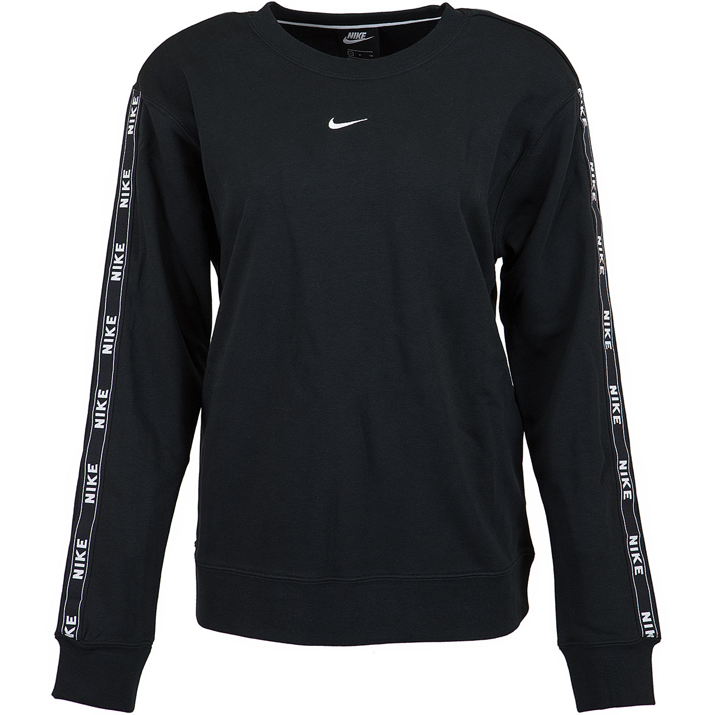 low priced 7fb98 ace69 Nike Damen Sweatshirt Logo Tape schwarz/weiß
