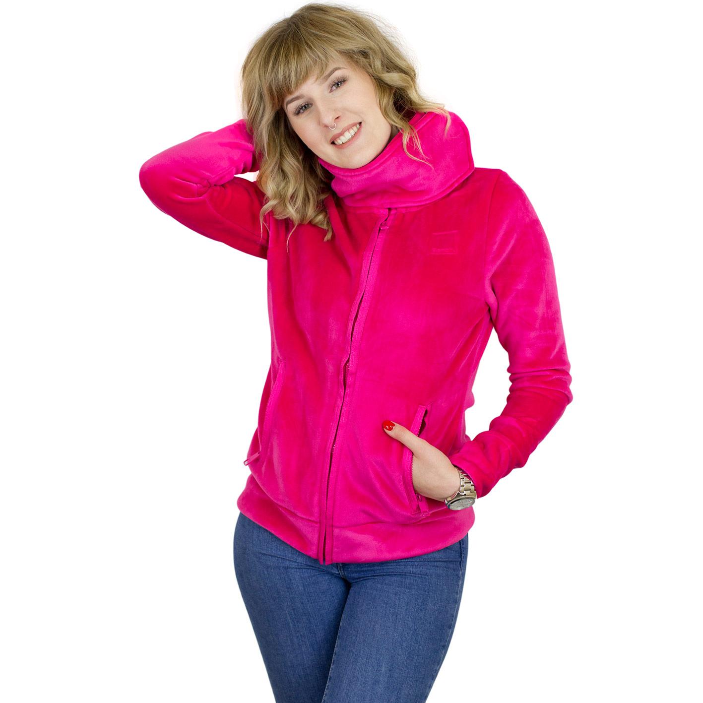 ☆ Bench Damen Sweatjacke Heritage Fleece Funnel pink hier