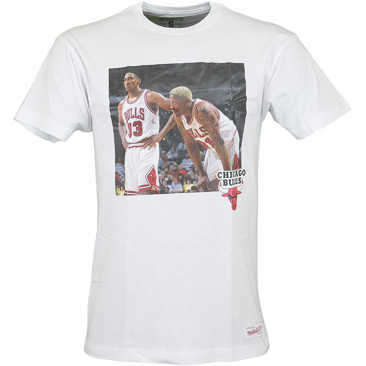 buy online 60060 94f15 Mitchell & Ness T-Shirt Chicago Bulls Pippen & Rodman weiß