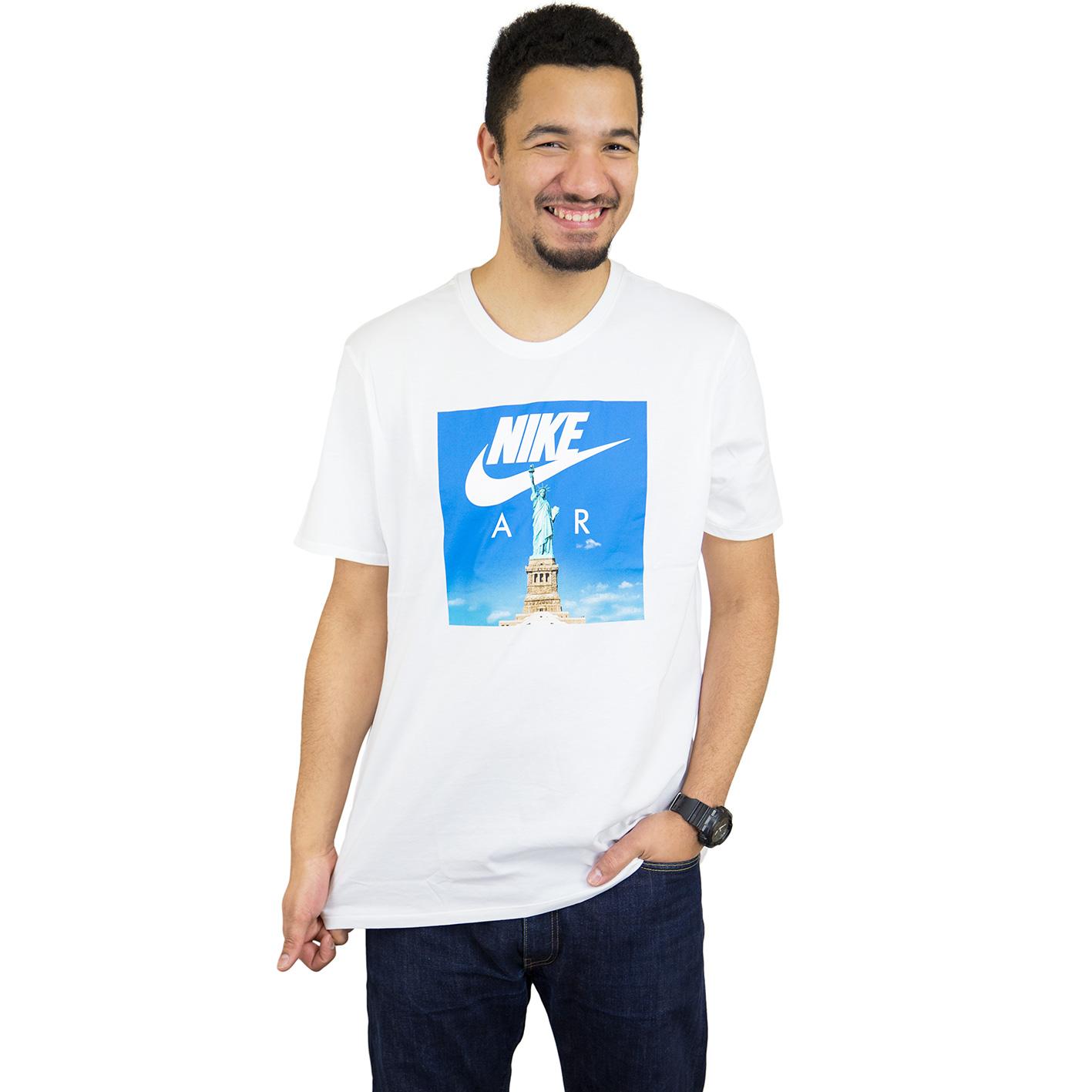 Nike Air 1 Weiß Blau T Shirt Herren