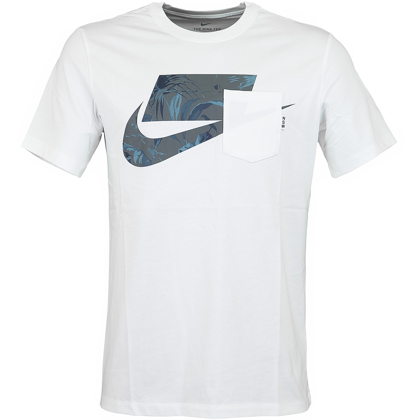 Nike T Shirt Block weißgrau