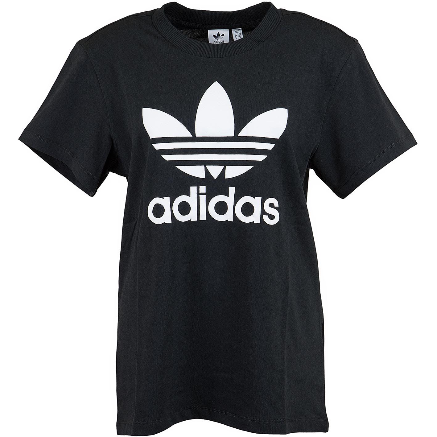 Adidas Originals Damen T Shirt Boyfriend schwarz