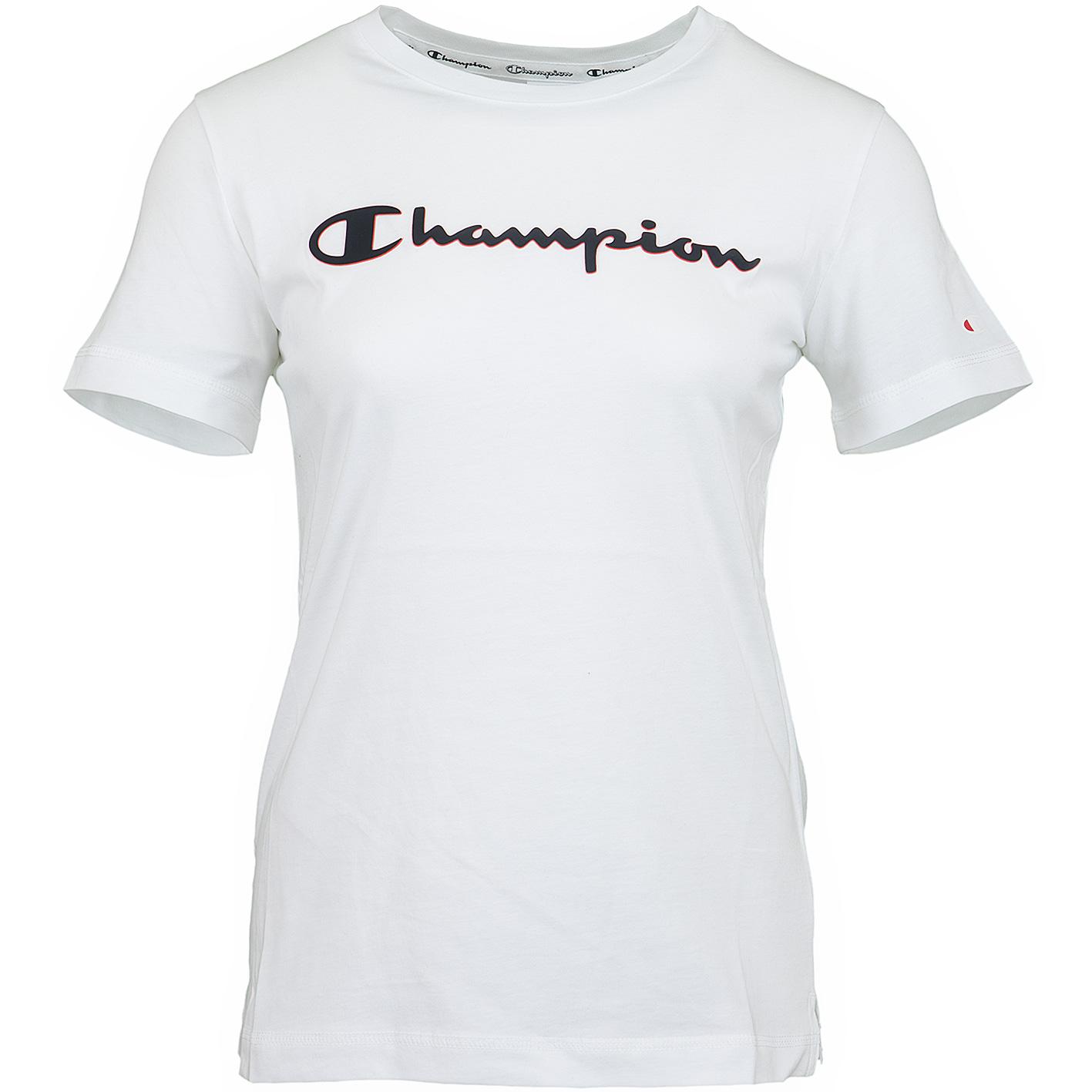 ausgewähltes Material bester Service feine handwerkskunst ☆ Champion Damen T-Shirt Logo weiß - hier bestellen!