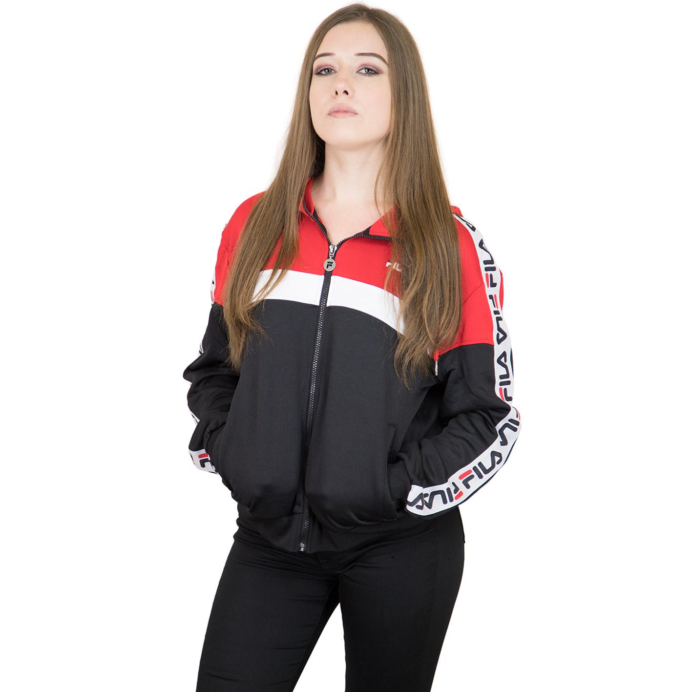 ☆ Fila Damen Trainingsjacke Urban Line Teela rot/weiß/schwarz ...