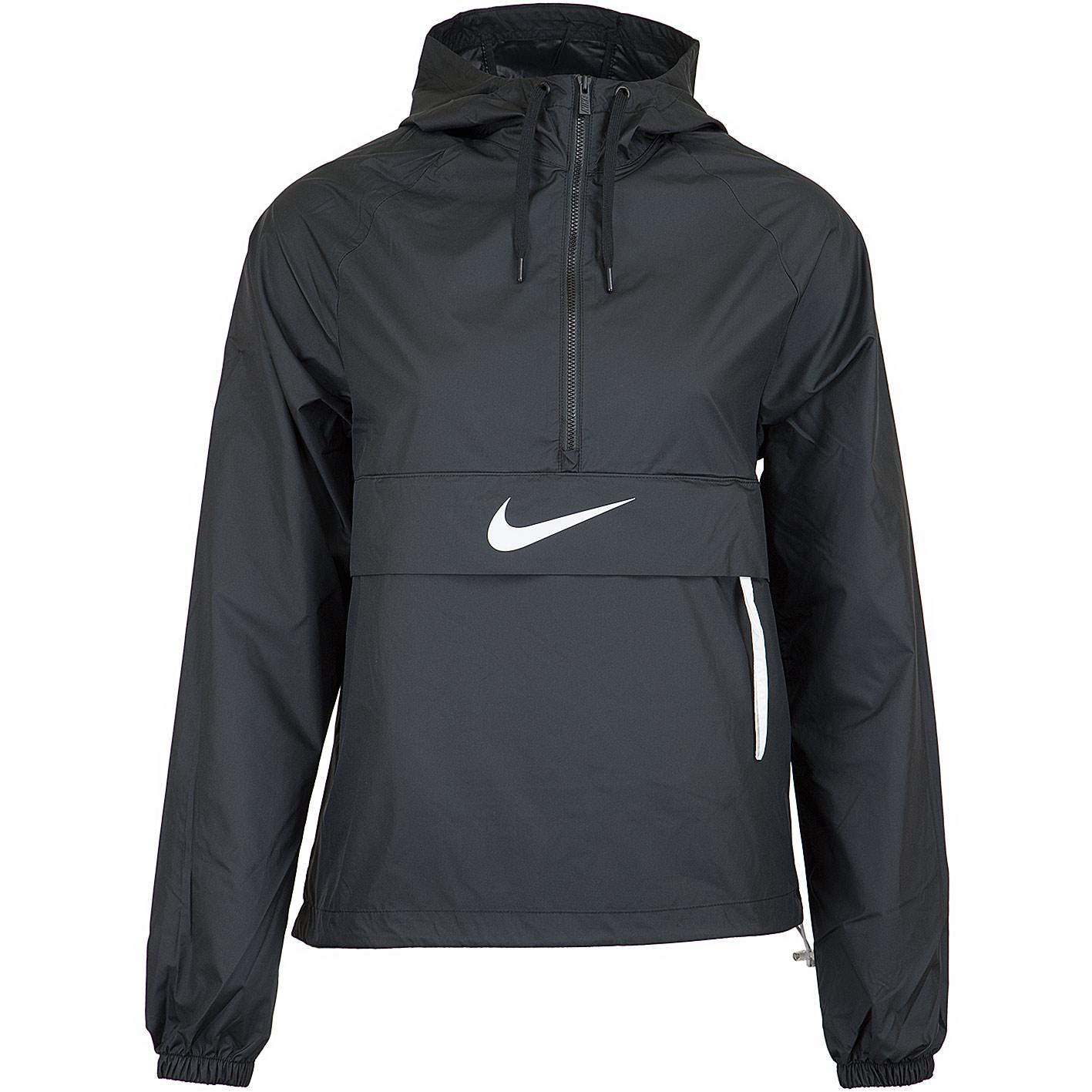 ☆ Nike Damen Windbreaker Swoosh Packable schwarzweiß