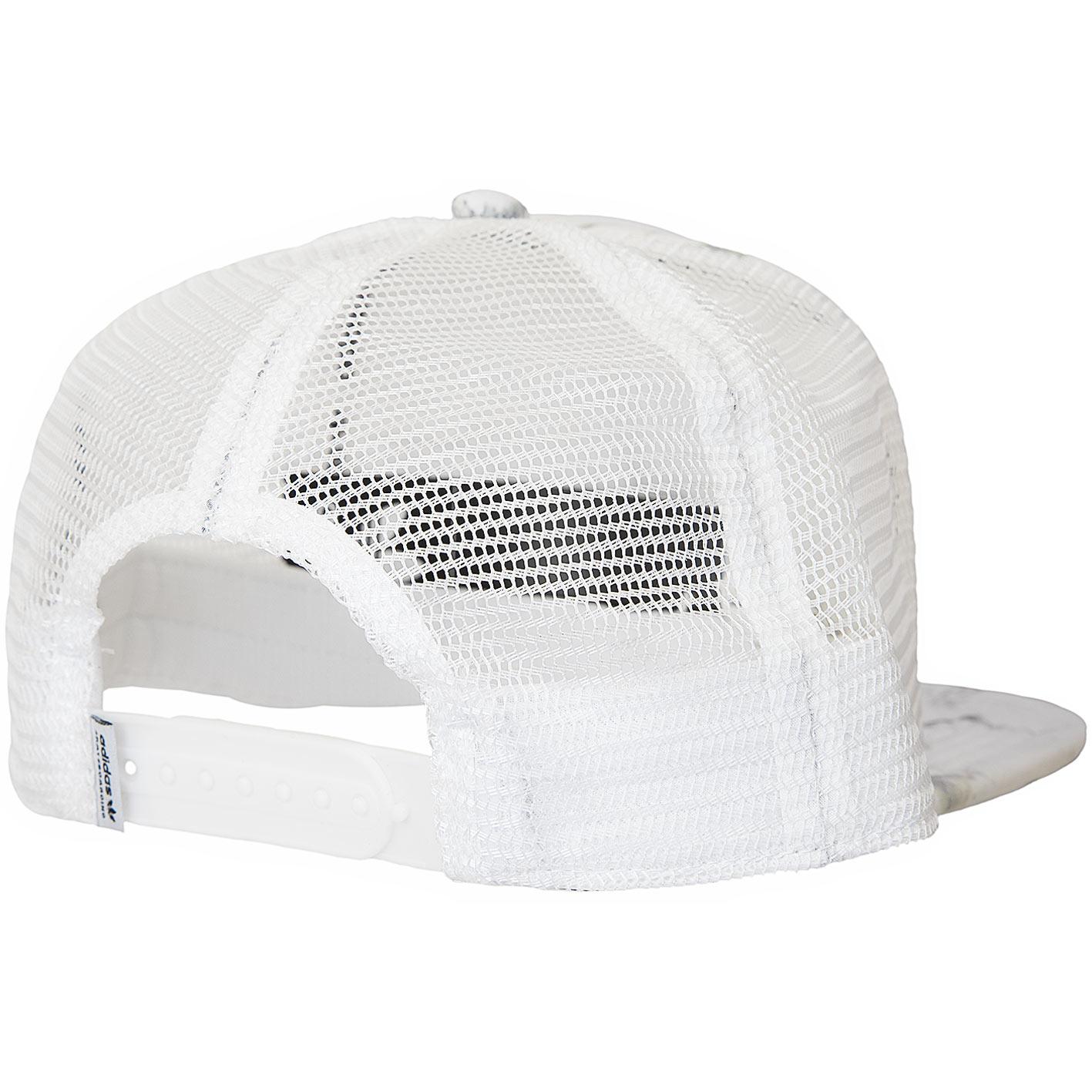 for whole family online here utterly stylish ☆ Adidas Originals Trucker Cap Marble weiß/schwarz - hier ...