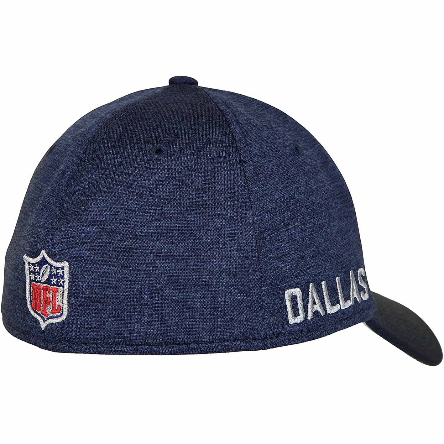 New Era 39Thirty Flexfit Cap OnField Road Dallas Cowboys dunkelblau grau e33eae4d58