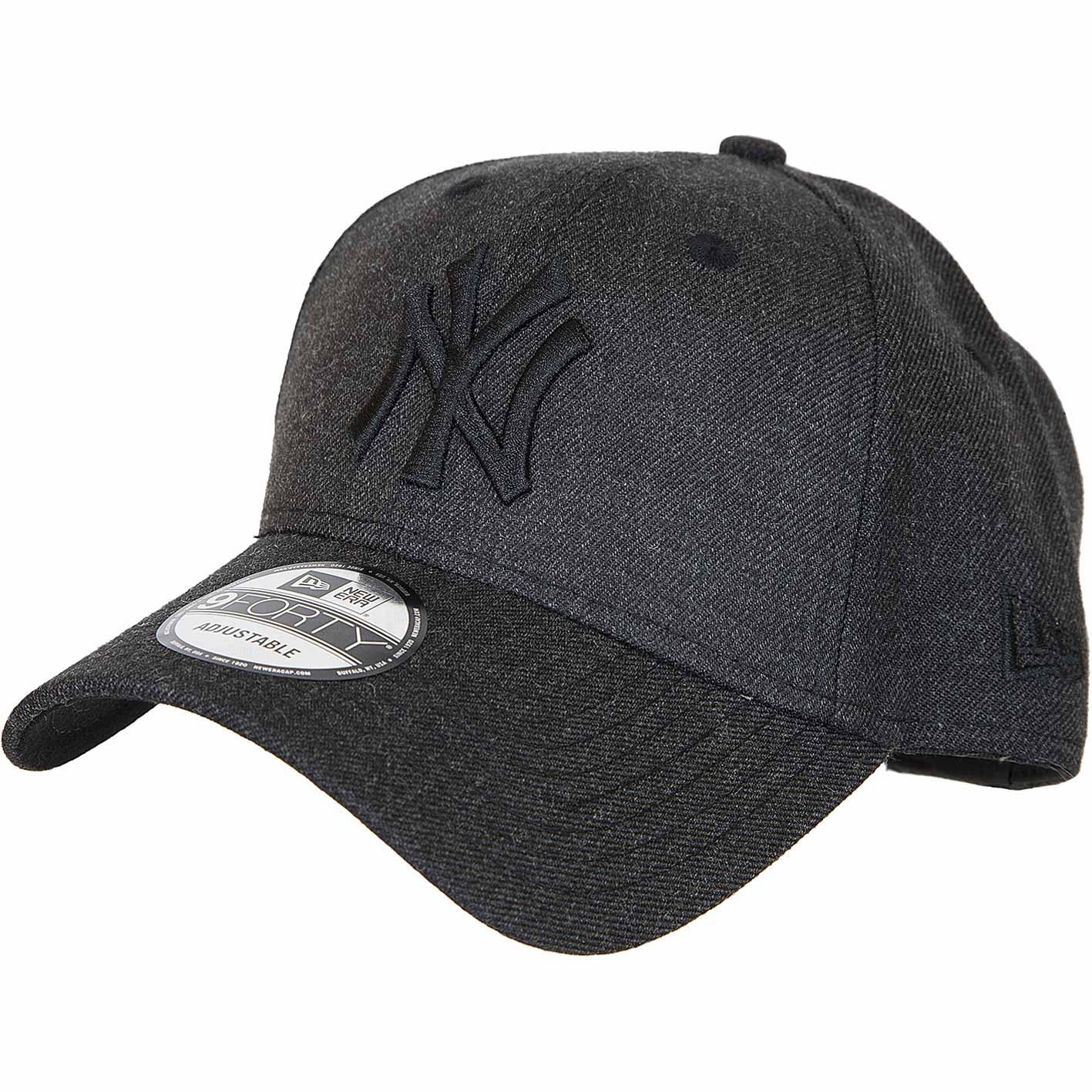 ☆ New Era 9Forty Snapback Cap Heather Essential NY Yankees schwarz ... 529f8a4f5af