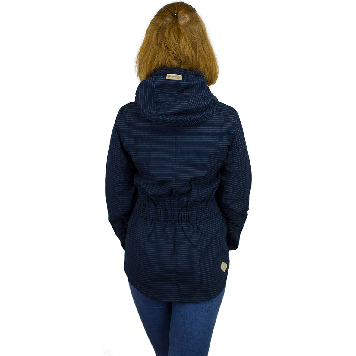 Ragwear Damen Jacke Monade Stripes dunkelblau