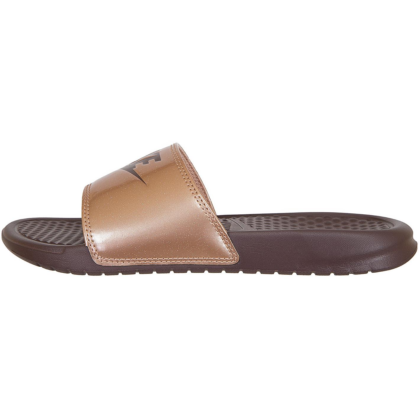 low priced 3484b 0bb98 Nike Damen Sandalen Benassi Just Do It rot-bronze