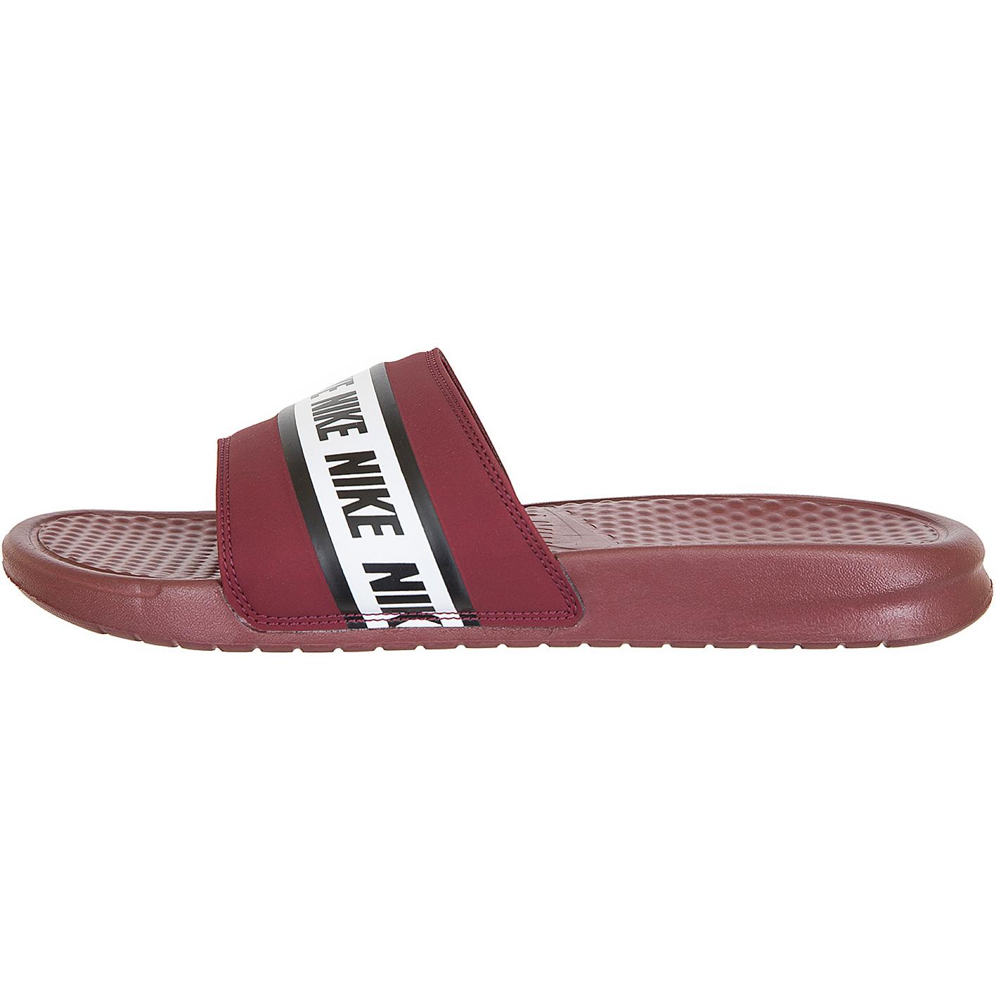 Nike Badelatschen Benassi rotweiß