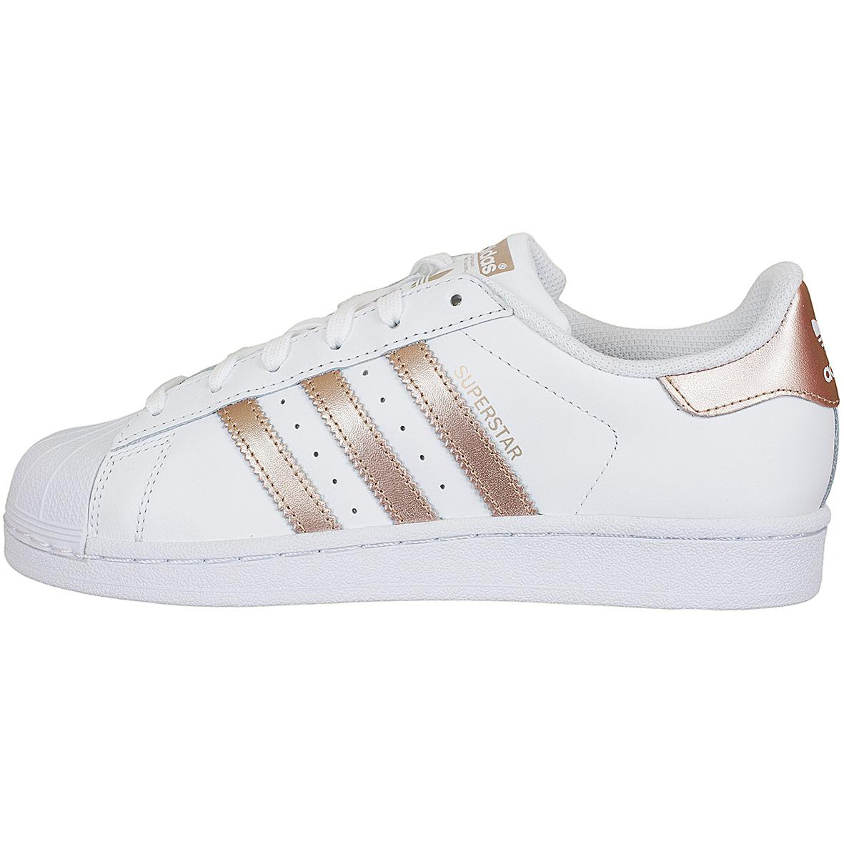 Weiß Superstar Ba8169 Adidas Gold Turnschuhe Originals